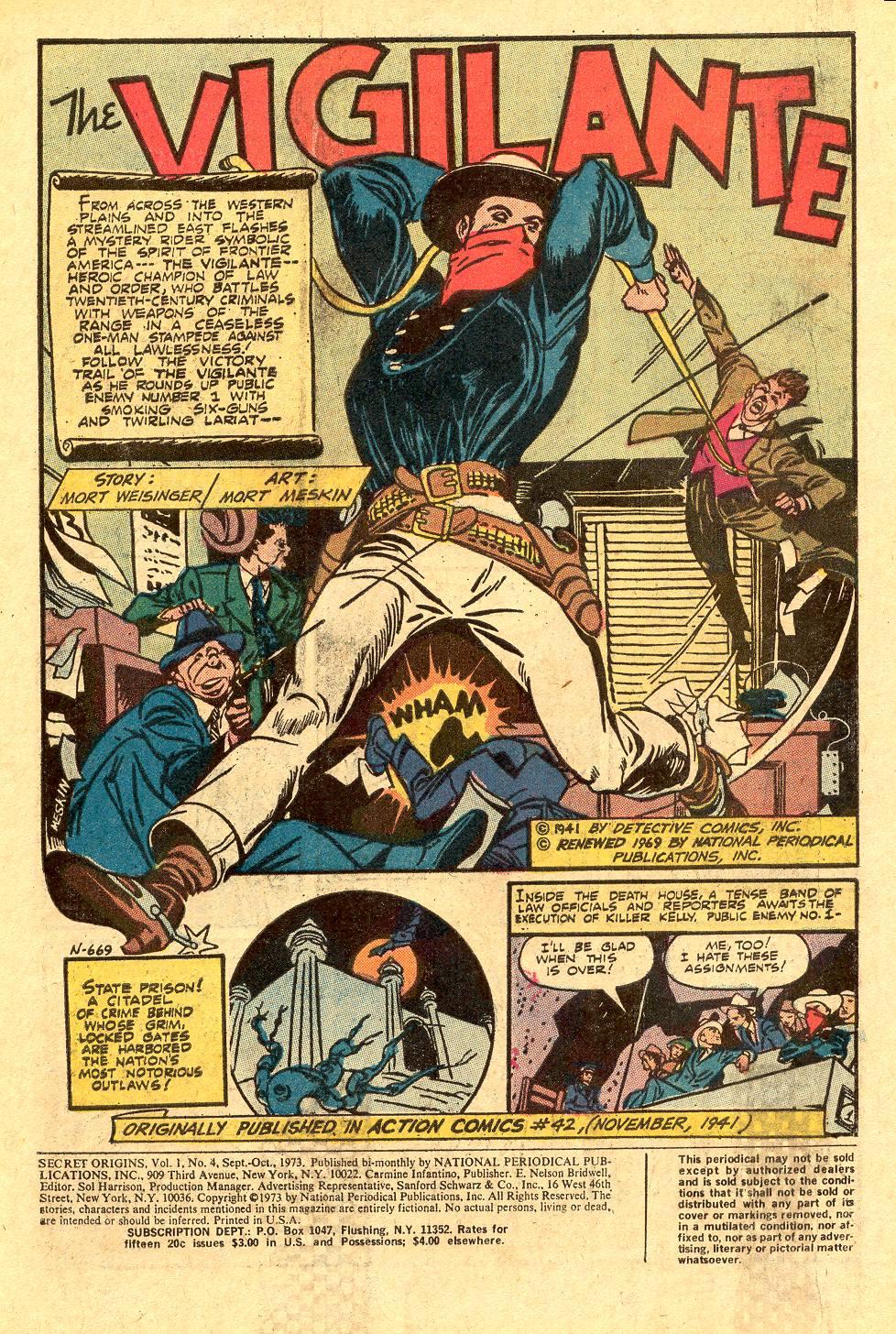 Read online Secret Origins (1973) comic -  Issue #4 - 3