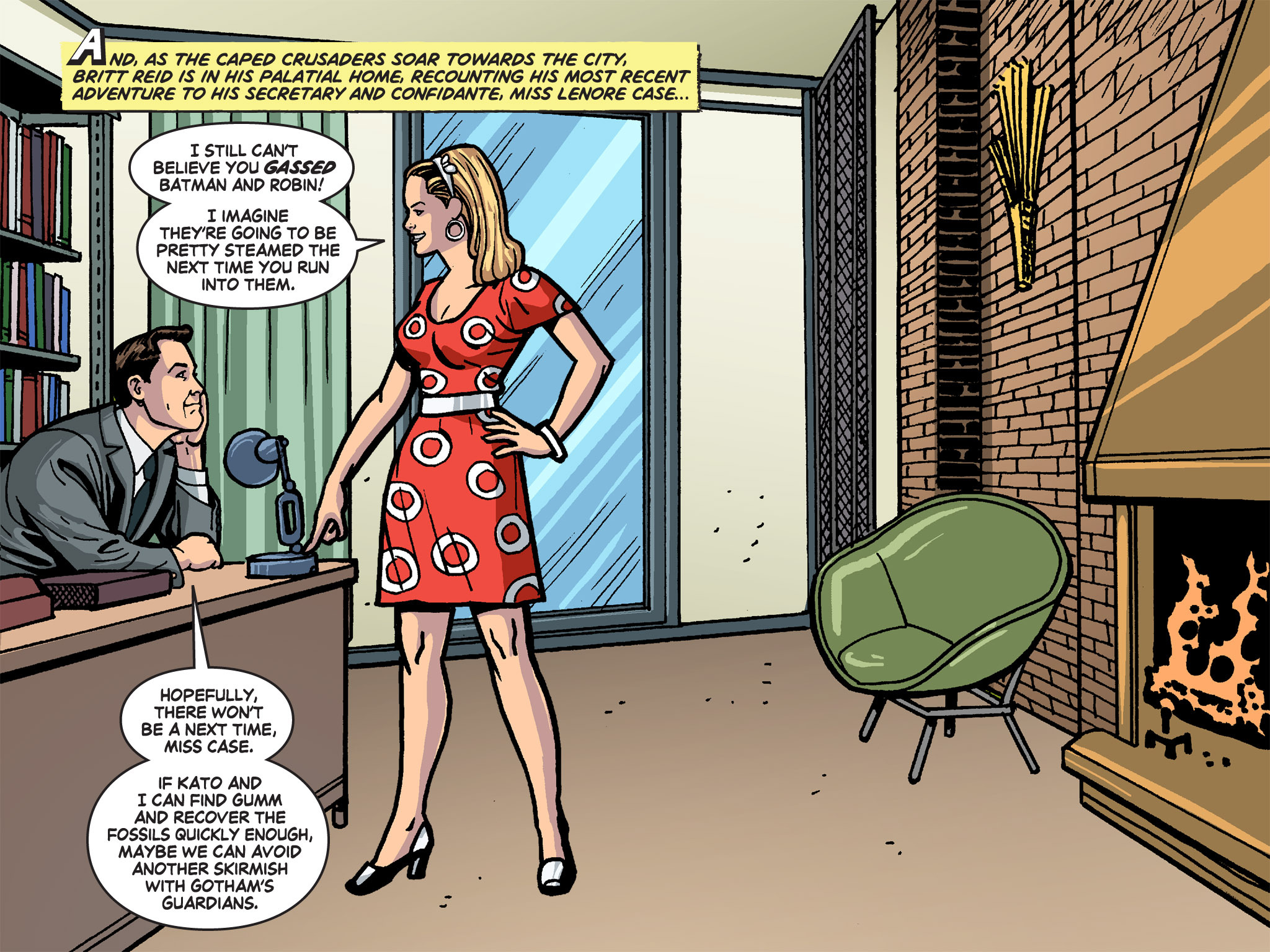 Read online Batman '66 Meets the Green Hornet [II] comic -  Issue #4 - 40