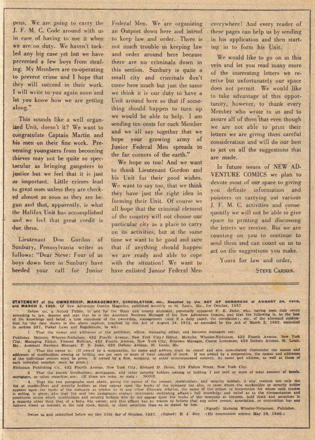 Read online Adventure Comics (1938) comic -  Issue #24 - 19
