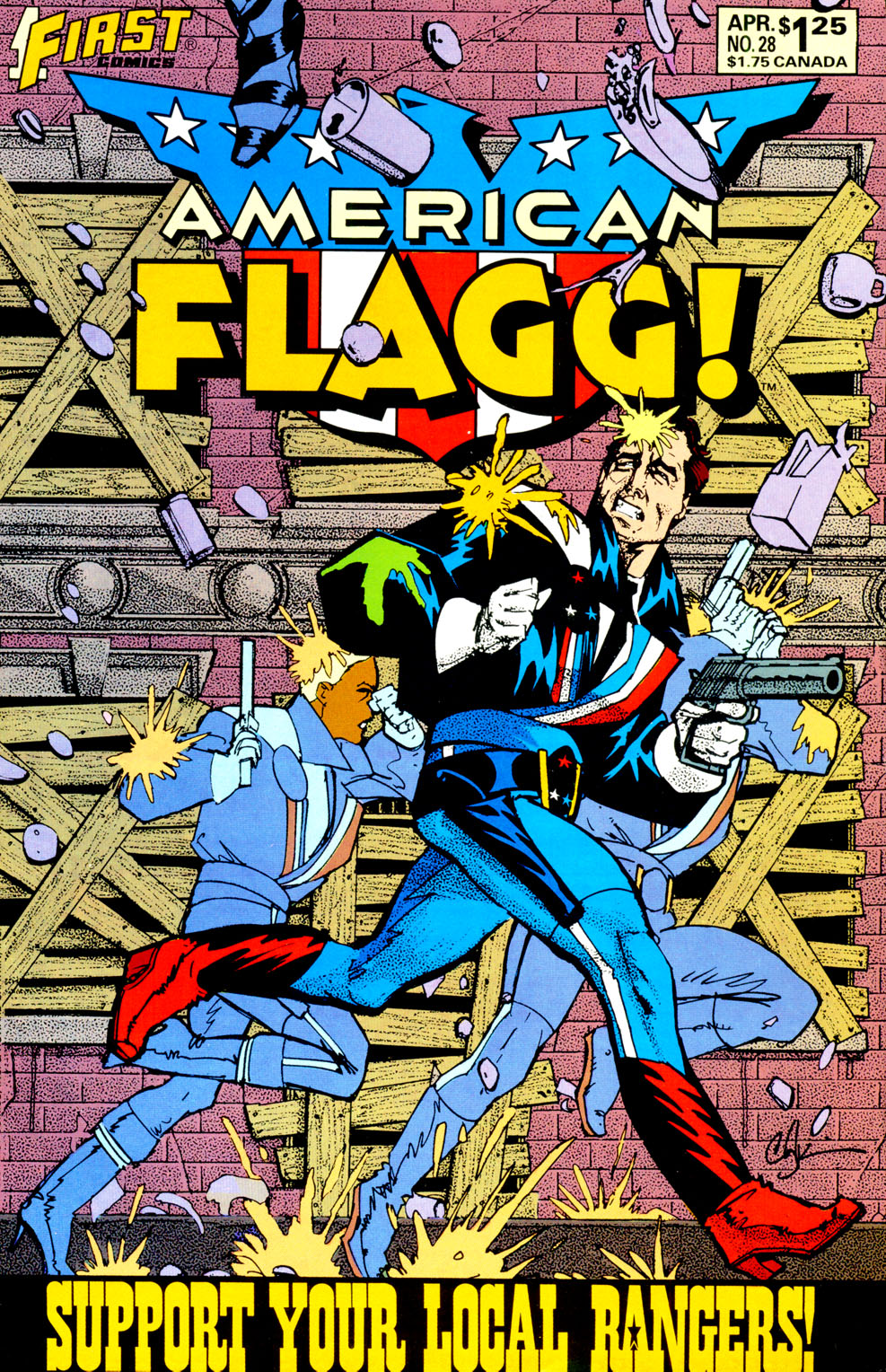 Read online American Flagg! comic -  Issue #28 - 1