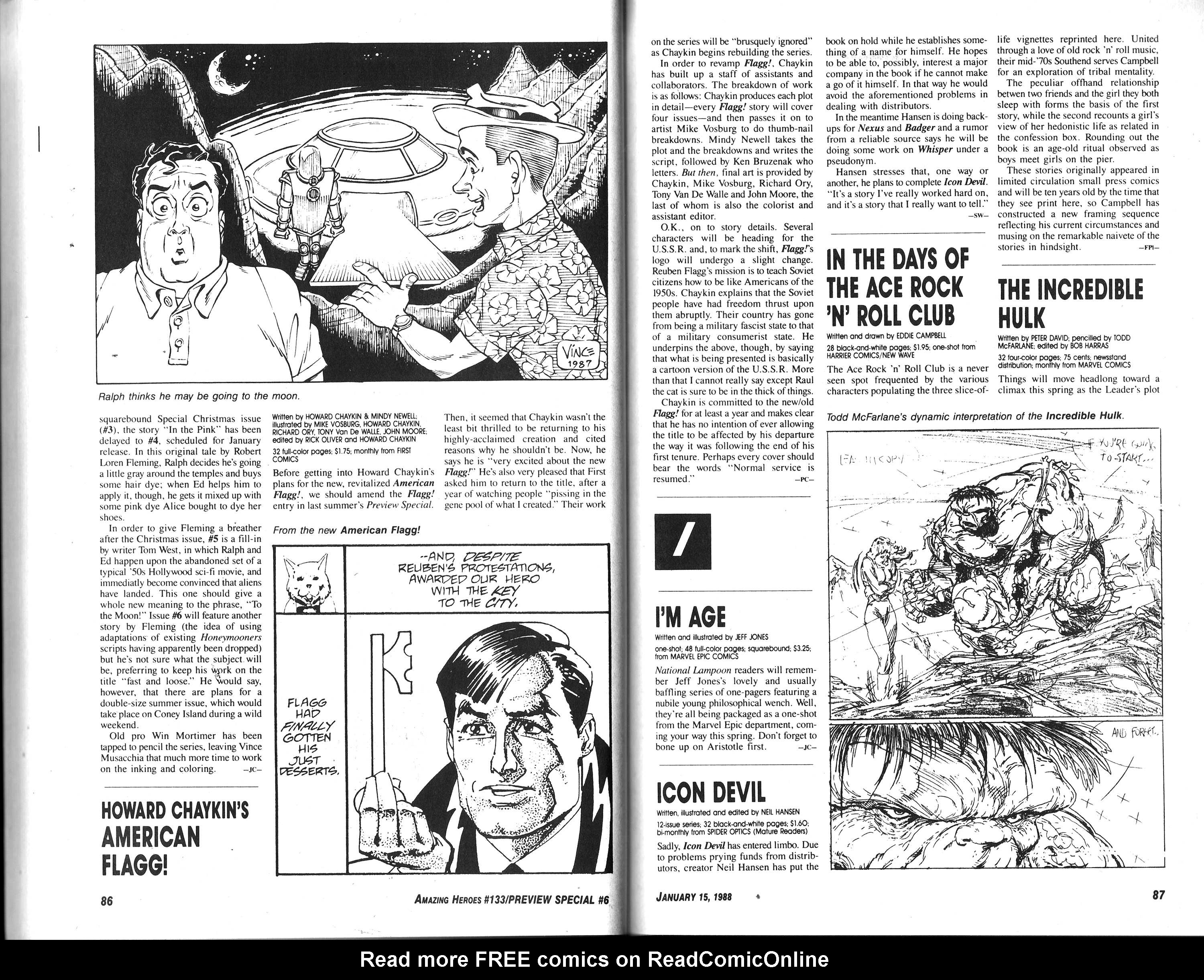 Read online Amazing Heroes comic -  Issue #133 - 45