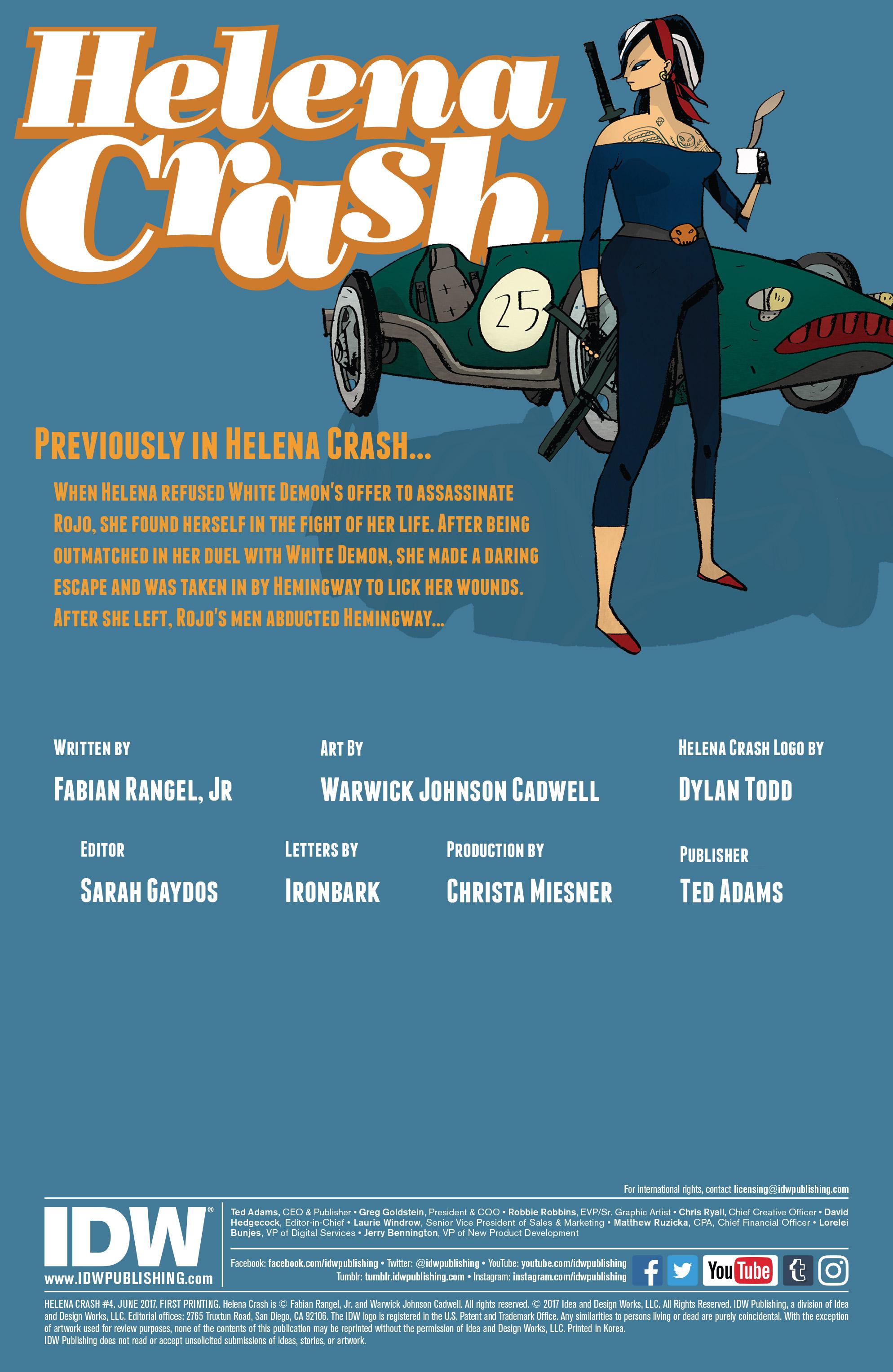 Read online Helena Crash comic -  Issue #4 - 2