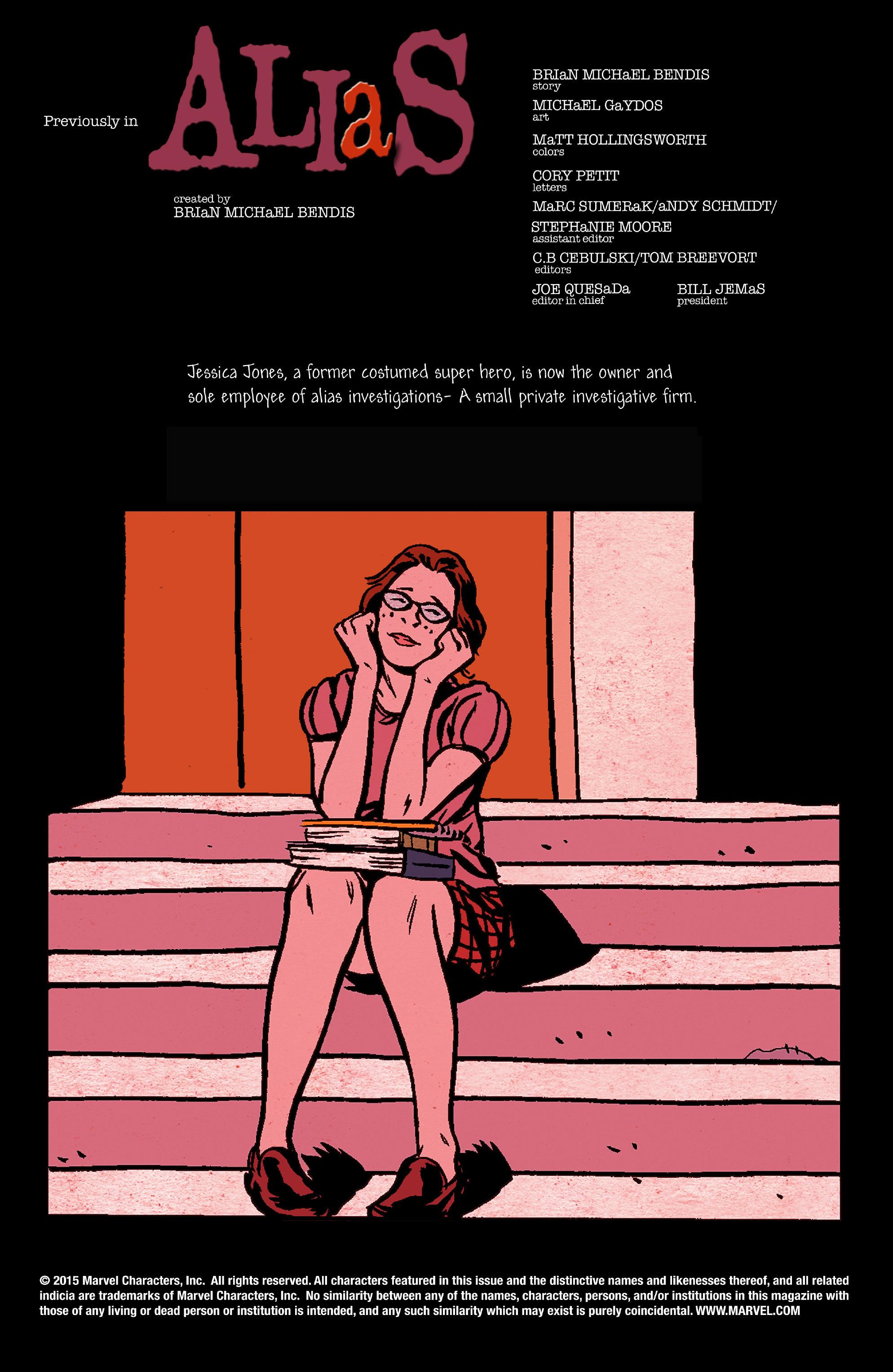 Read online Alias comic -  Issue #22 - 2