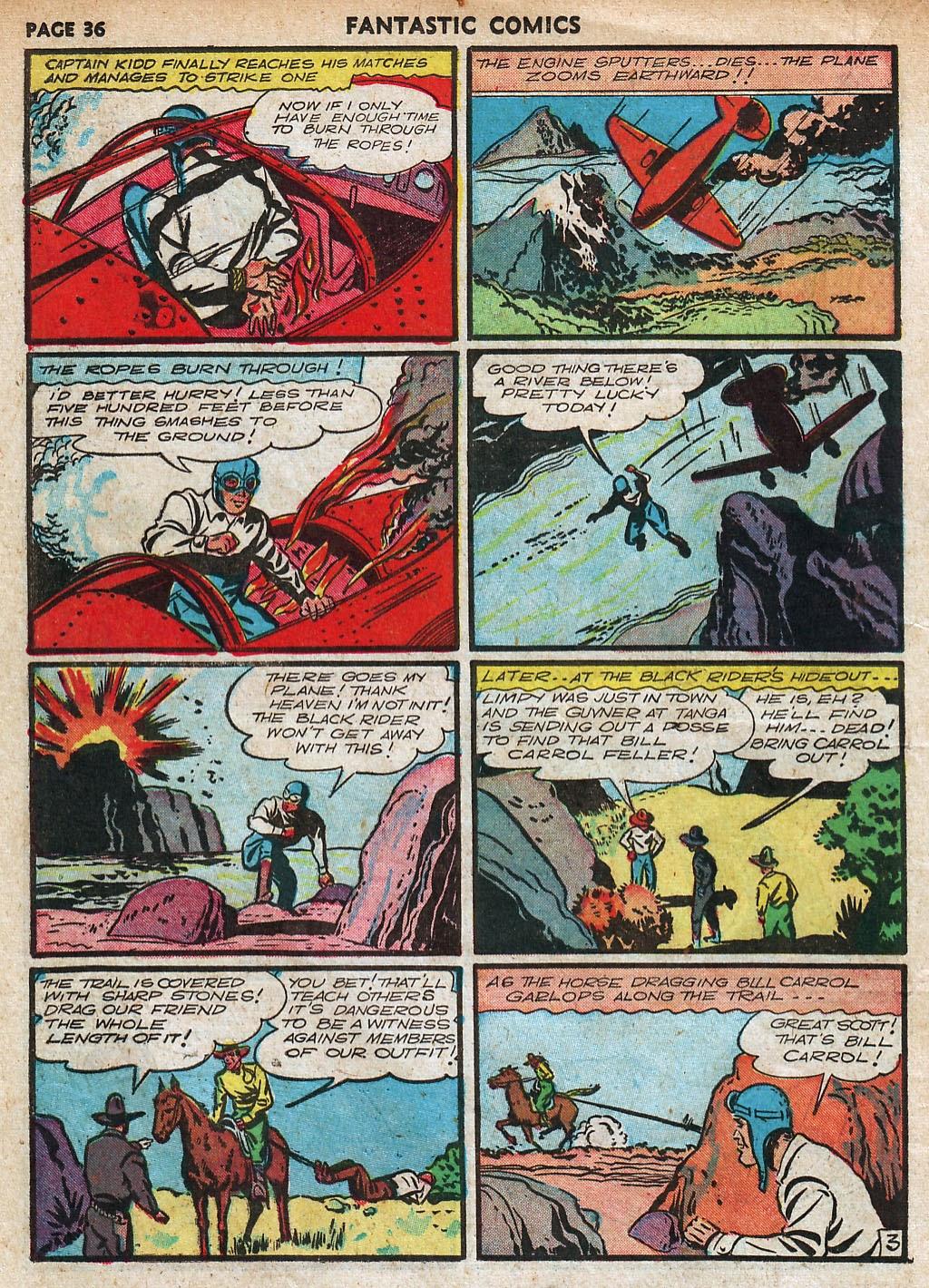 Read online Fantastic Comics comic -  Issue #18 - 38