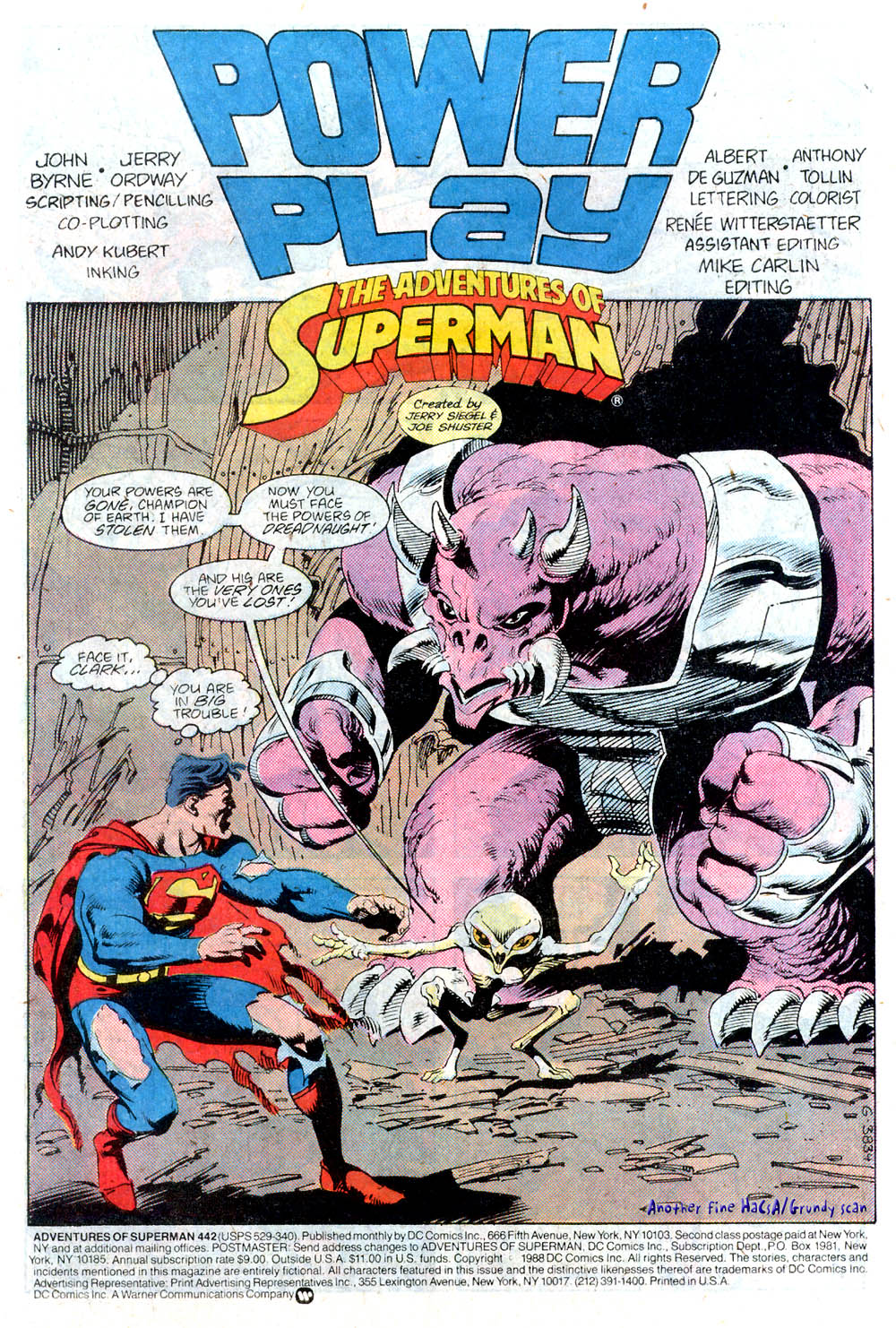 Read online Adventures of Superman (1987) comic -  Issue #442 - 2