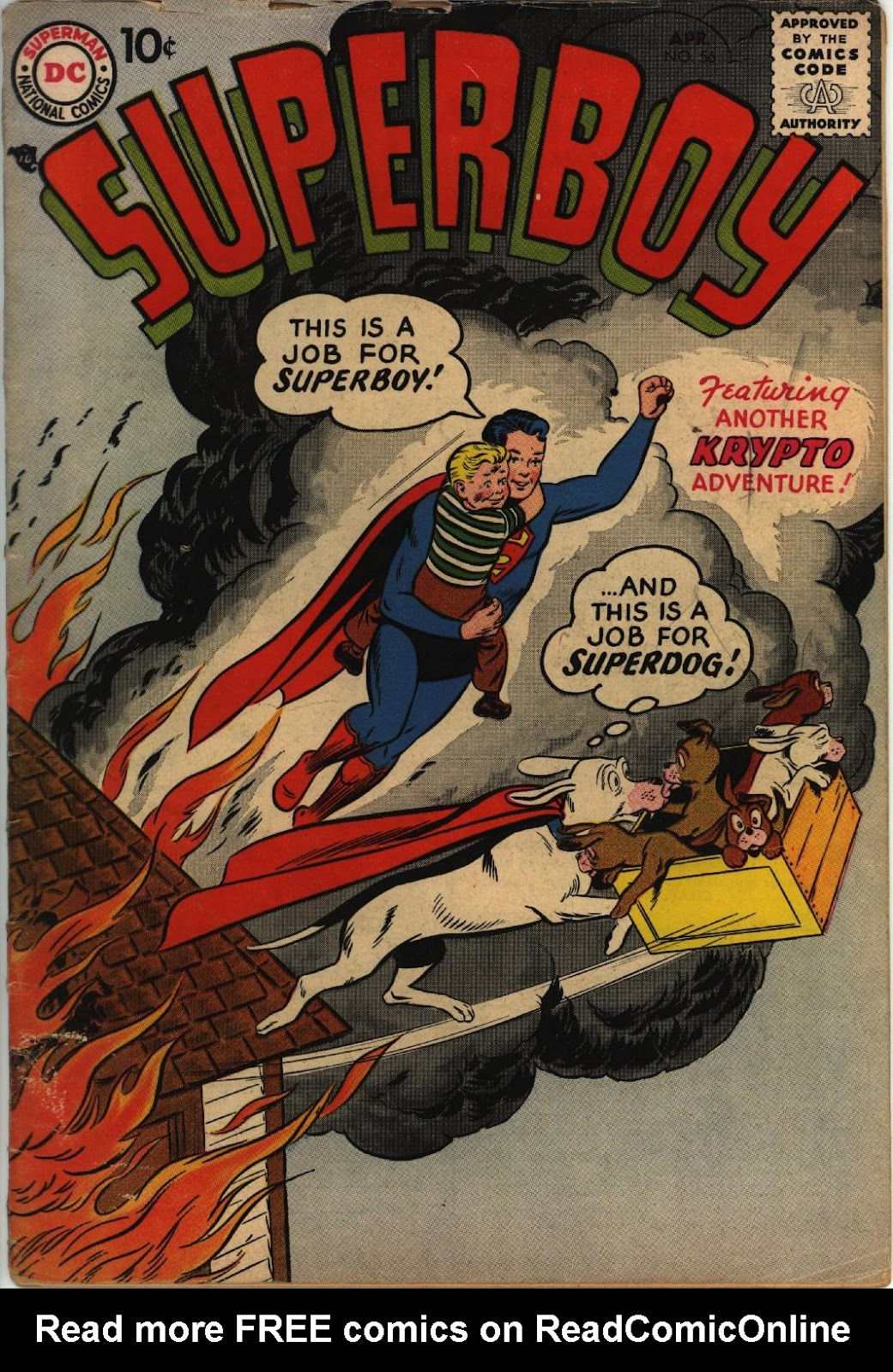 Superboy (1949) issue 56 - Page 1