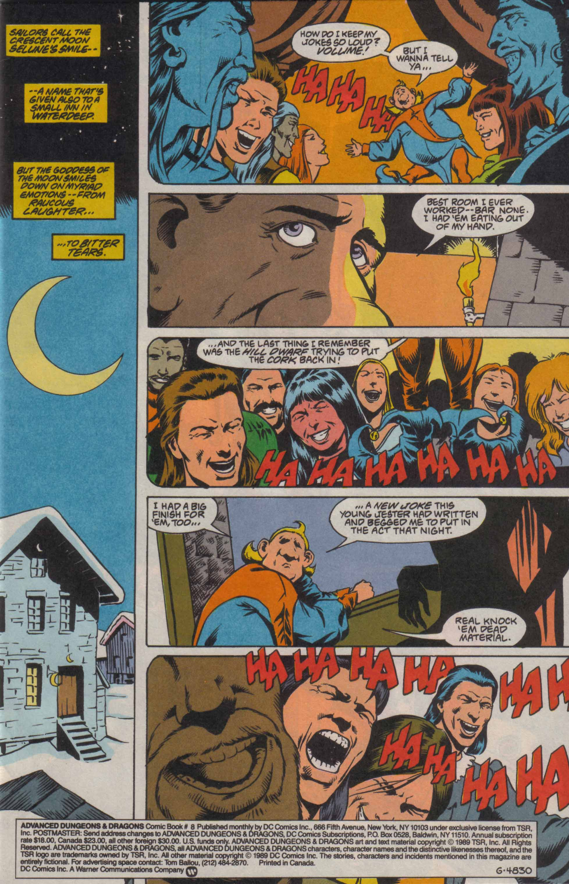 Read online Advanced Dungeons & Dragons comic -  Issue #8 - 2