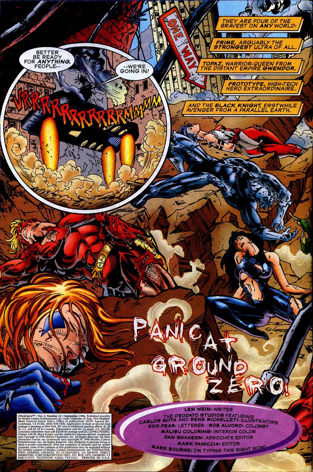 Read online UltraForce (1995) comic -  Issue #12 - 4