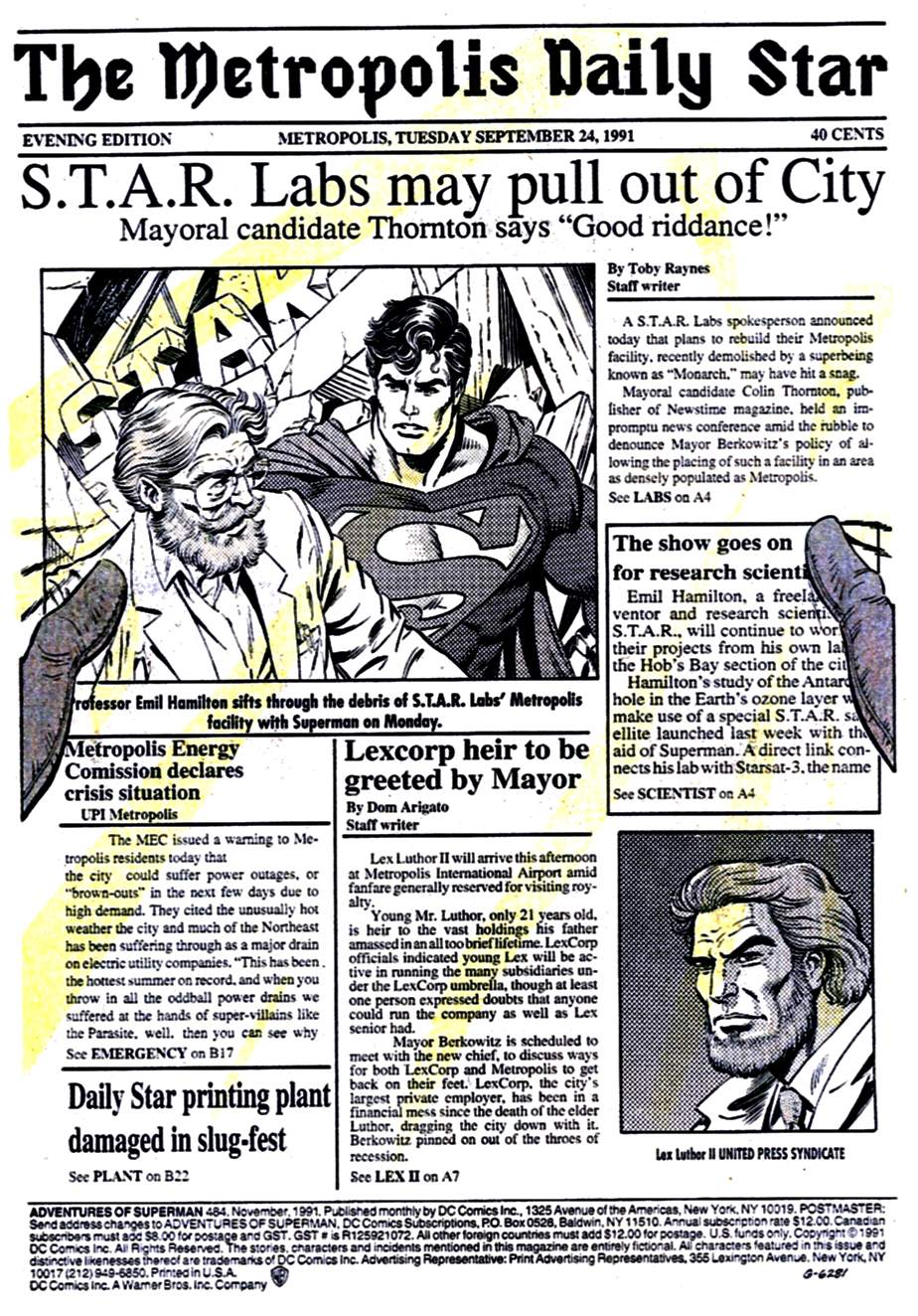 Read online Adventures of Superman (1987) comic -  Issue #484 - 2