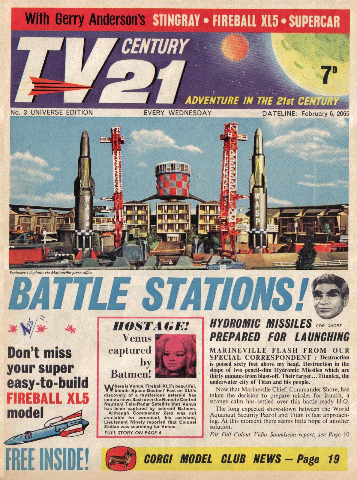 TV Century 21 (TV 21) issue 3 - Page 1