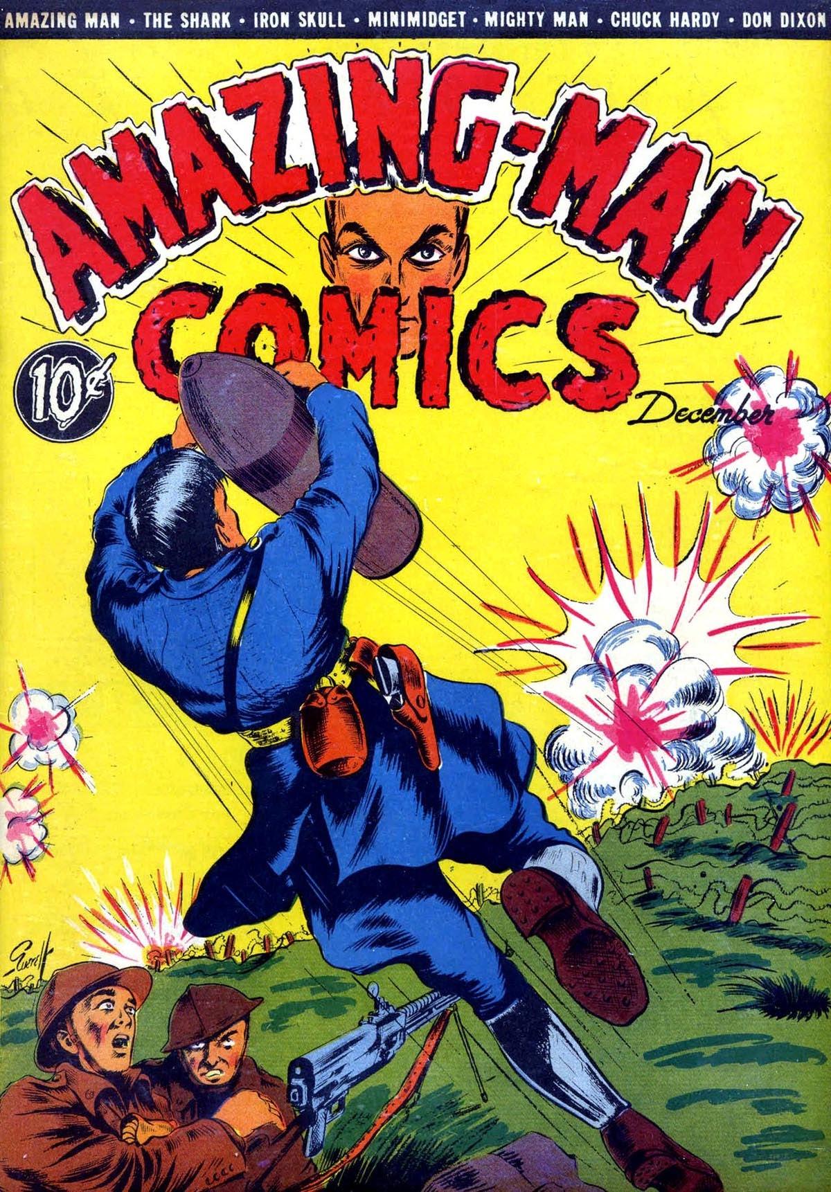 Read online Amazing Man Comics comic -  Issue #8 - 1