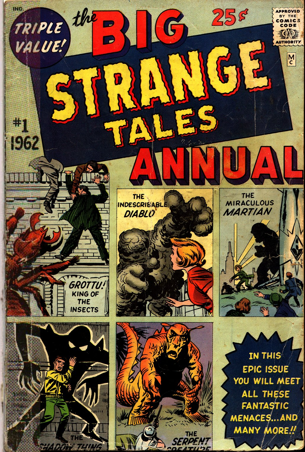 Strange Tales (1951) issue Annual 1 - Page 1