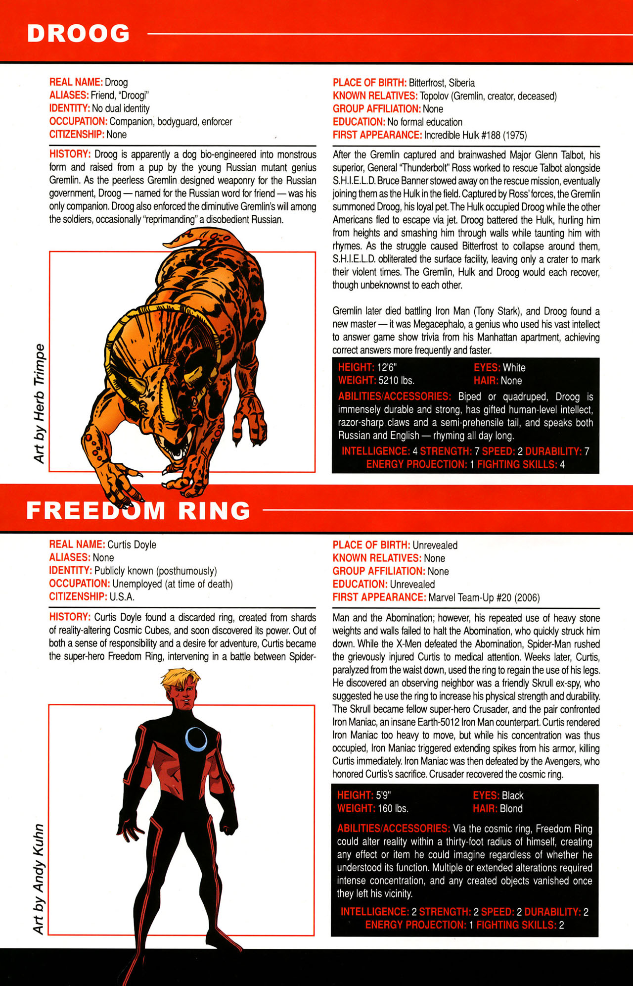 Read online All-New Official Handbook of the Marvel Universe A to Z: Update comic -  Issue #1 - 63