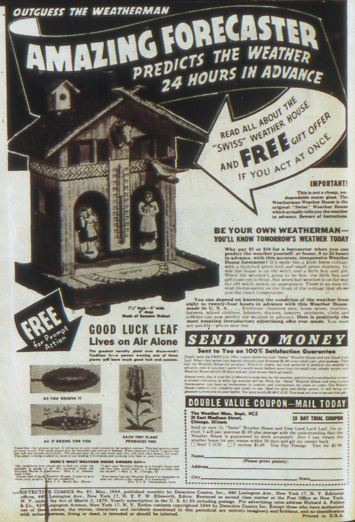 Read online Detective Comics (1937) comic -  Issue #87 - 2