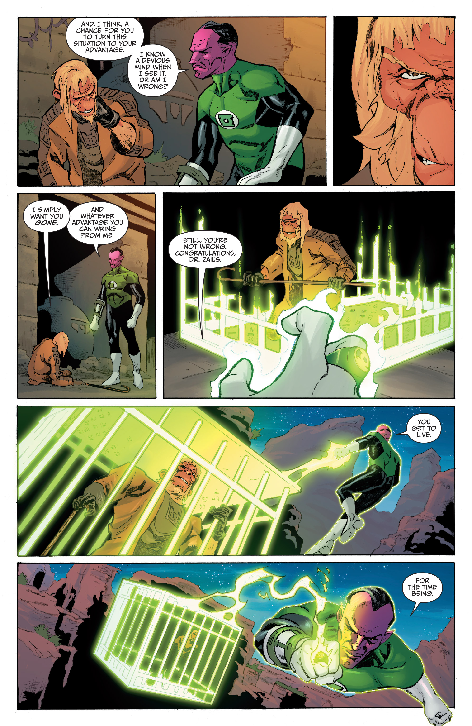 Read online Planet of the Apes/Green Lantern comic -  Issue #5 - 5