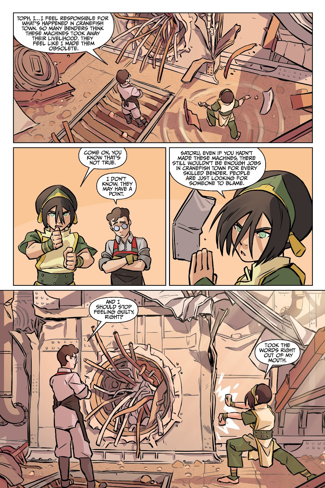 Read online Nickelodeon Avatar: The Last Airbender - Imbalance comic -  Issue # TPB 2 - 32