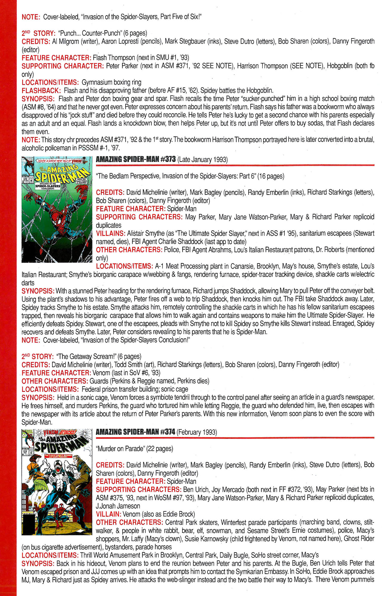 Read online Official Index to the Marvel Universe comic -  Issue #9 - 6