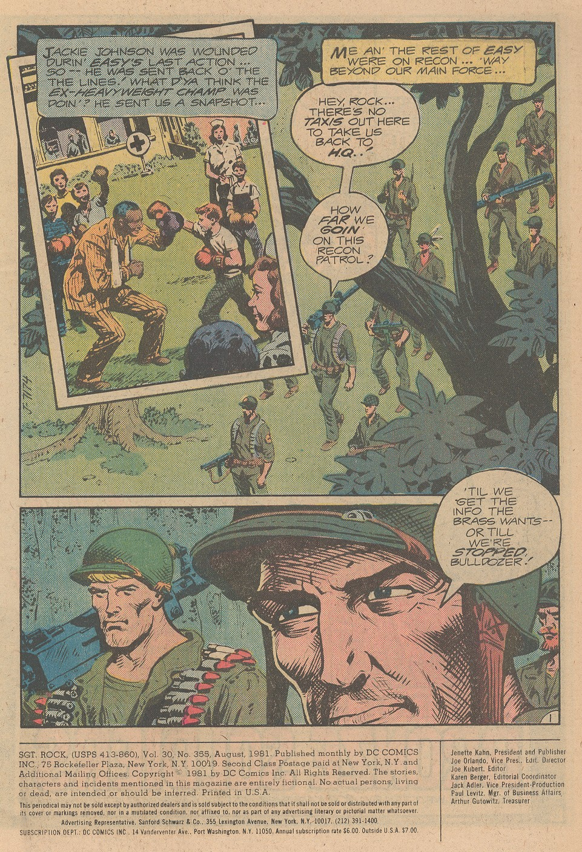 Read online Sgt. Rock comic -  Issue #355 - 2