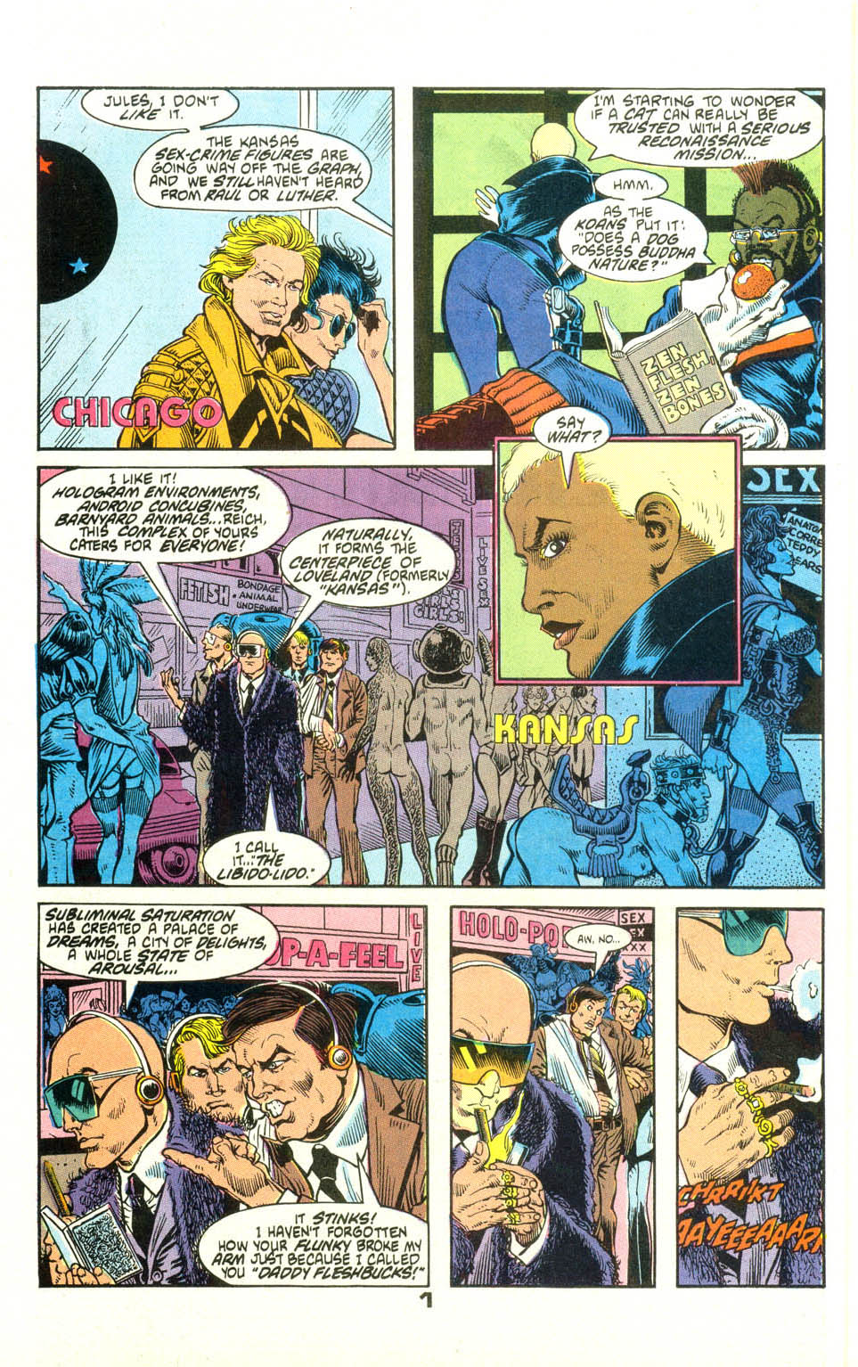 Read online American Flagg! comic -  Issue #23 - 23