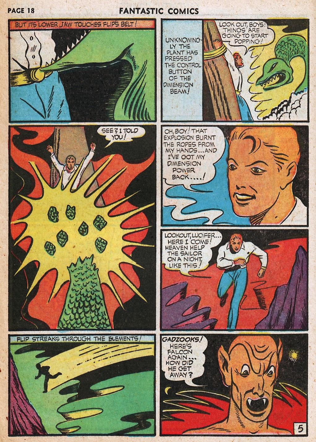 Read online Fantastic Comics comic -  Issue #20 - 19