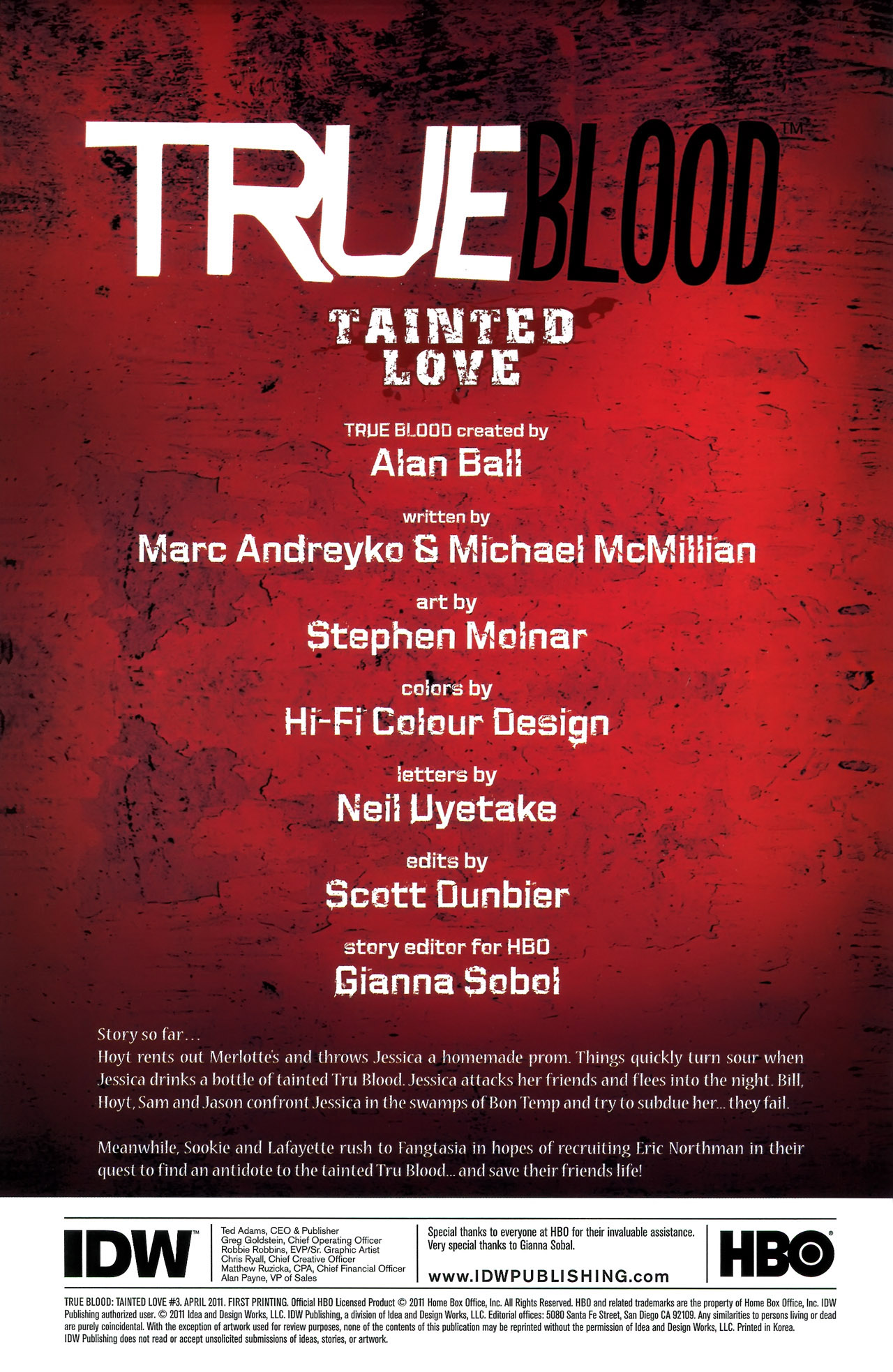 Read online True Blood: Tainted Love comic -  Issue #3 - 4