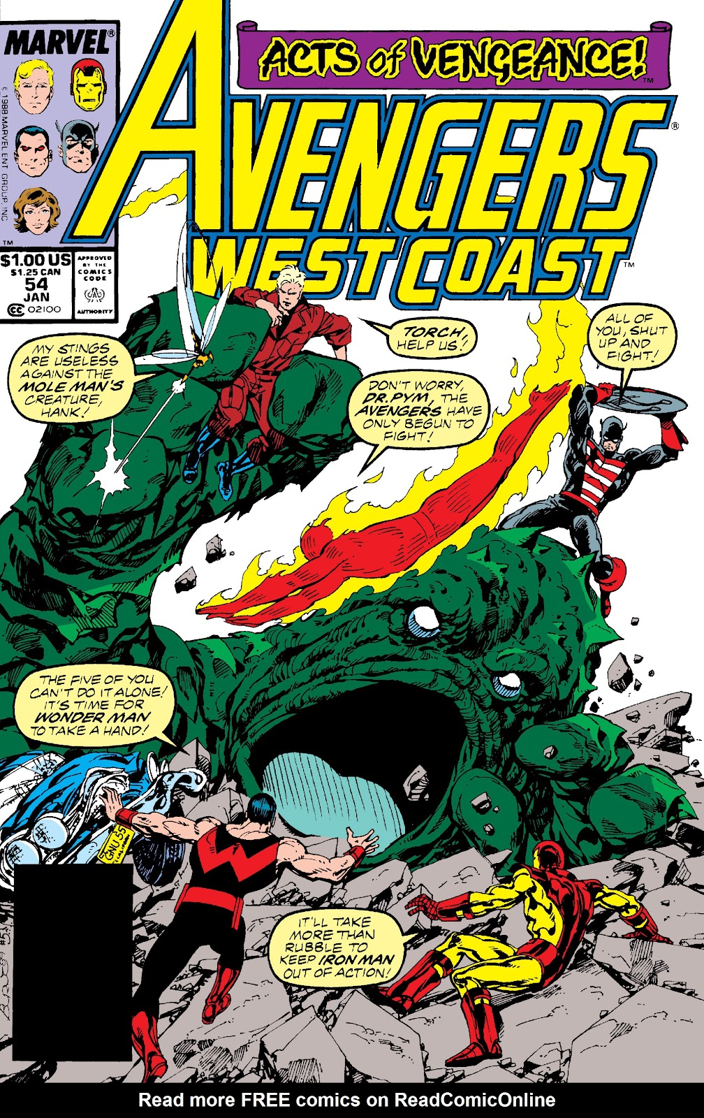Avengers West Coast (1989) issue 54 - Page 1