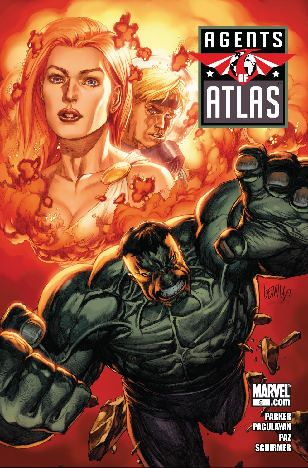 Read online Agents Of Atlas (2009) comic -  Issue #8 - 1