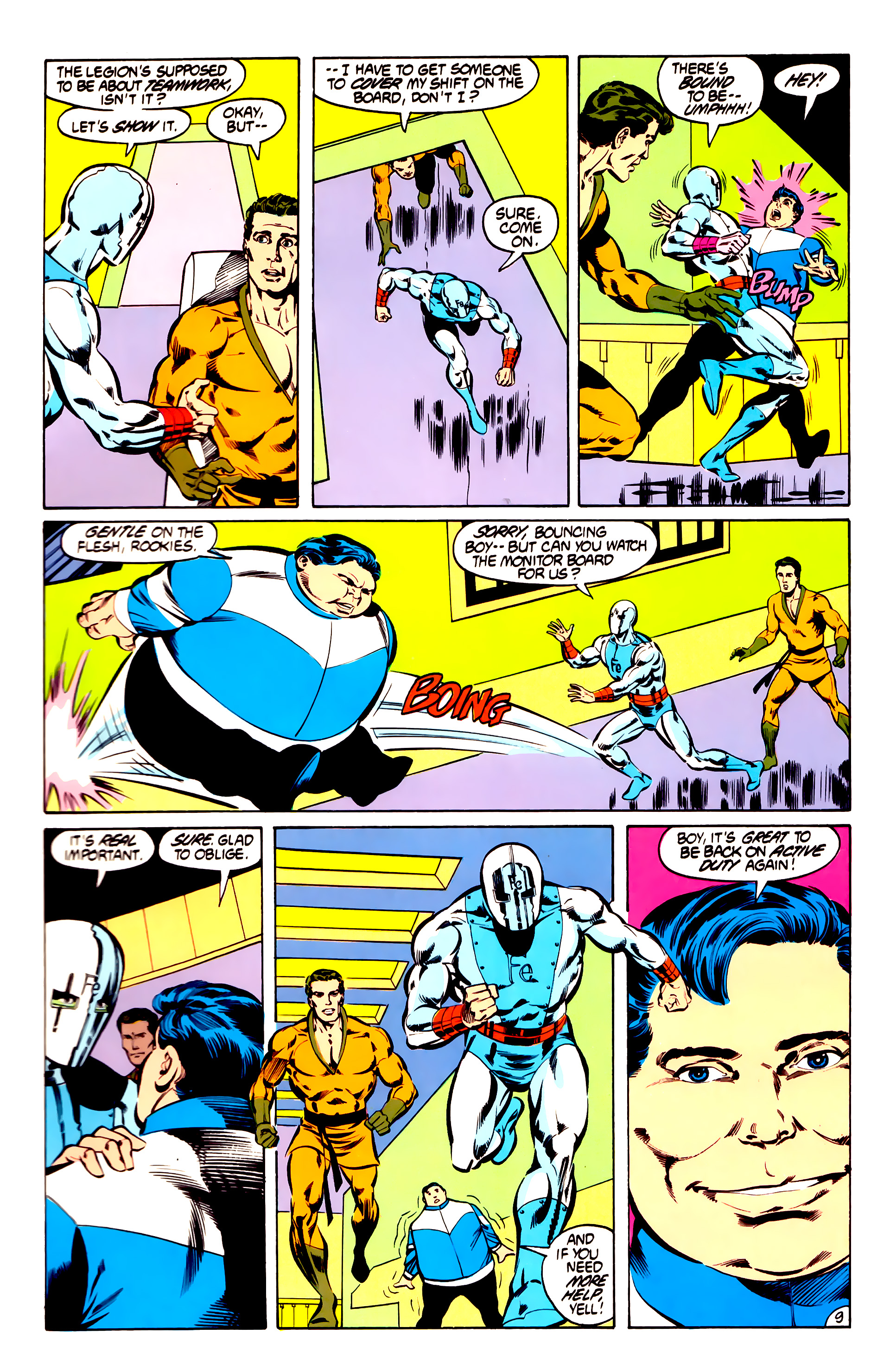 Legion of Super-Heroes (1984) 31 Page 9