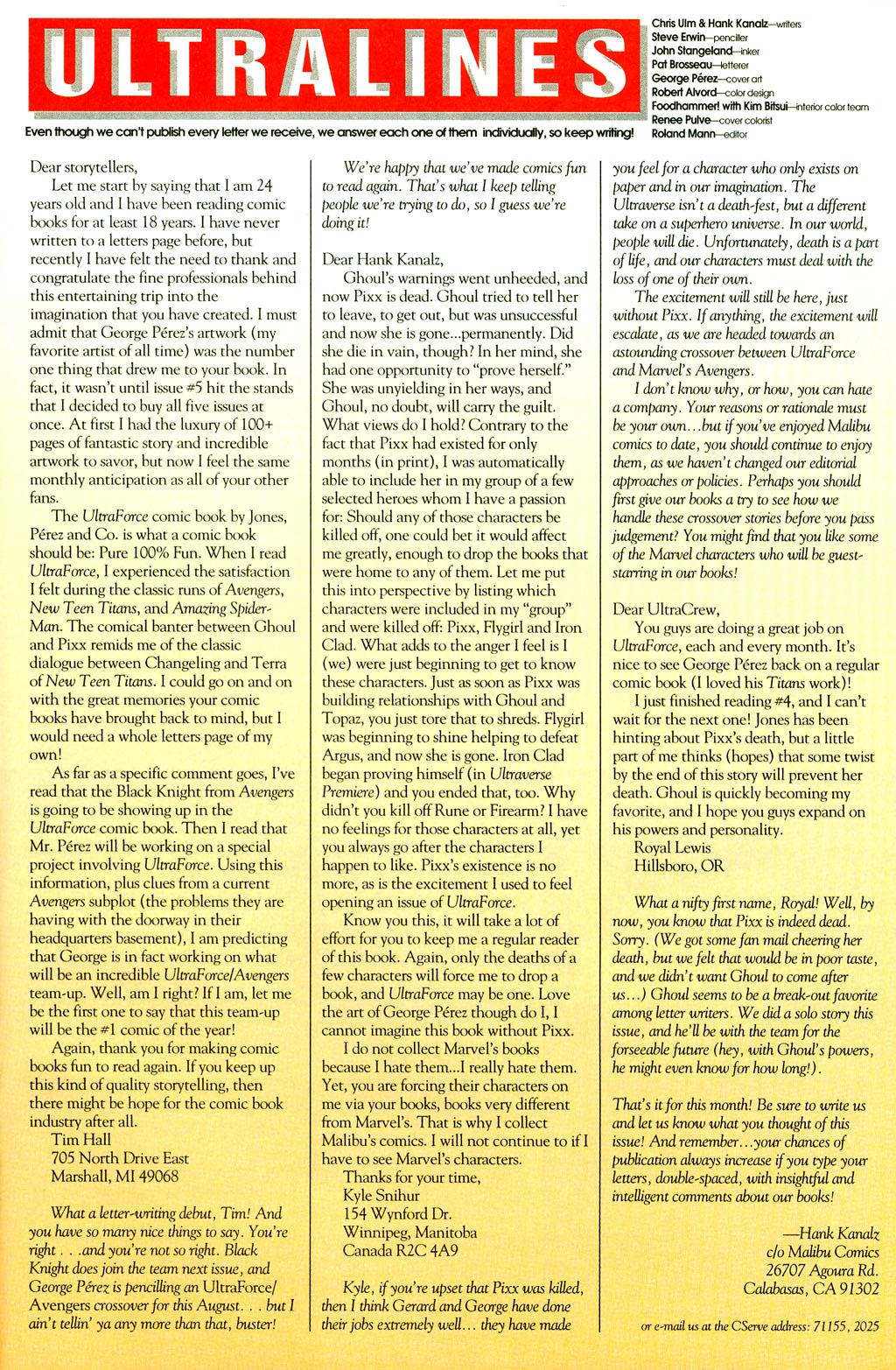 Read online UltraForce (1994) comic -  Issue #7 - 24