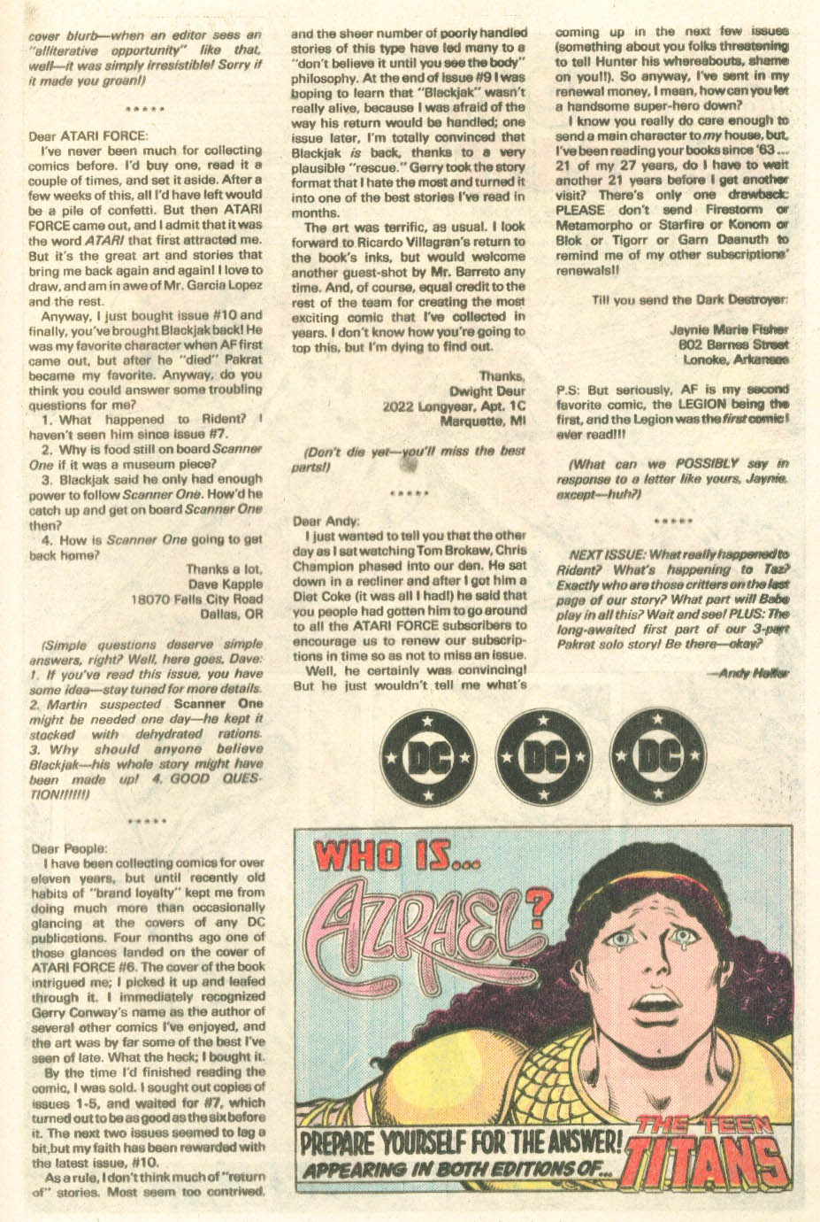 Read online Atari Force (1984) comic -  Issue #14 - 20