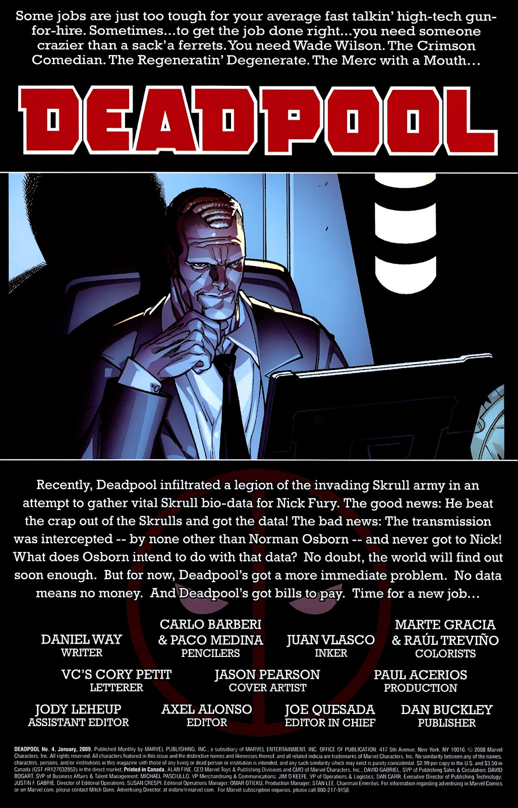 Read online Deadpool (2008) comic -  Issue #4 - 2