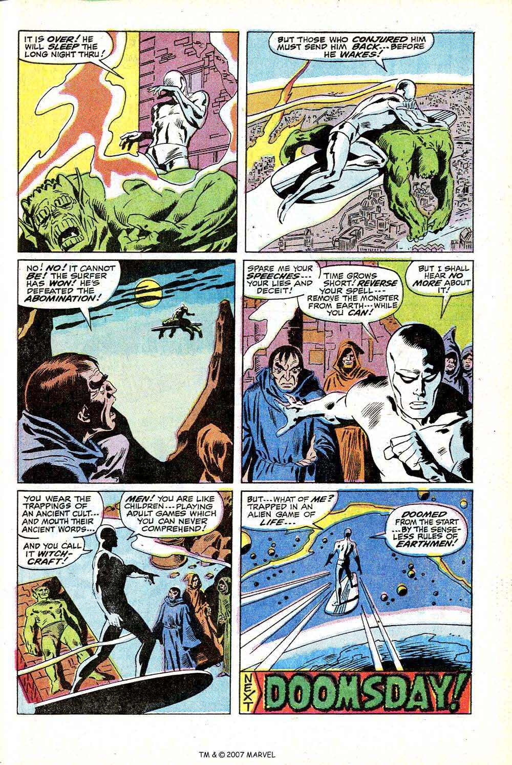 Read online Silver Surfer (1968) comic -  Issue #12 - 29