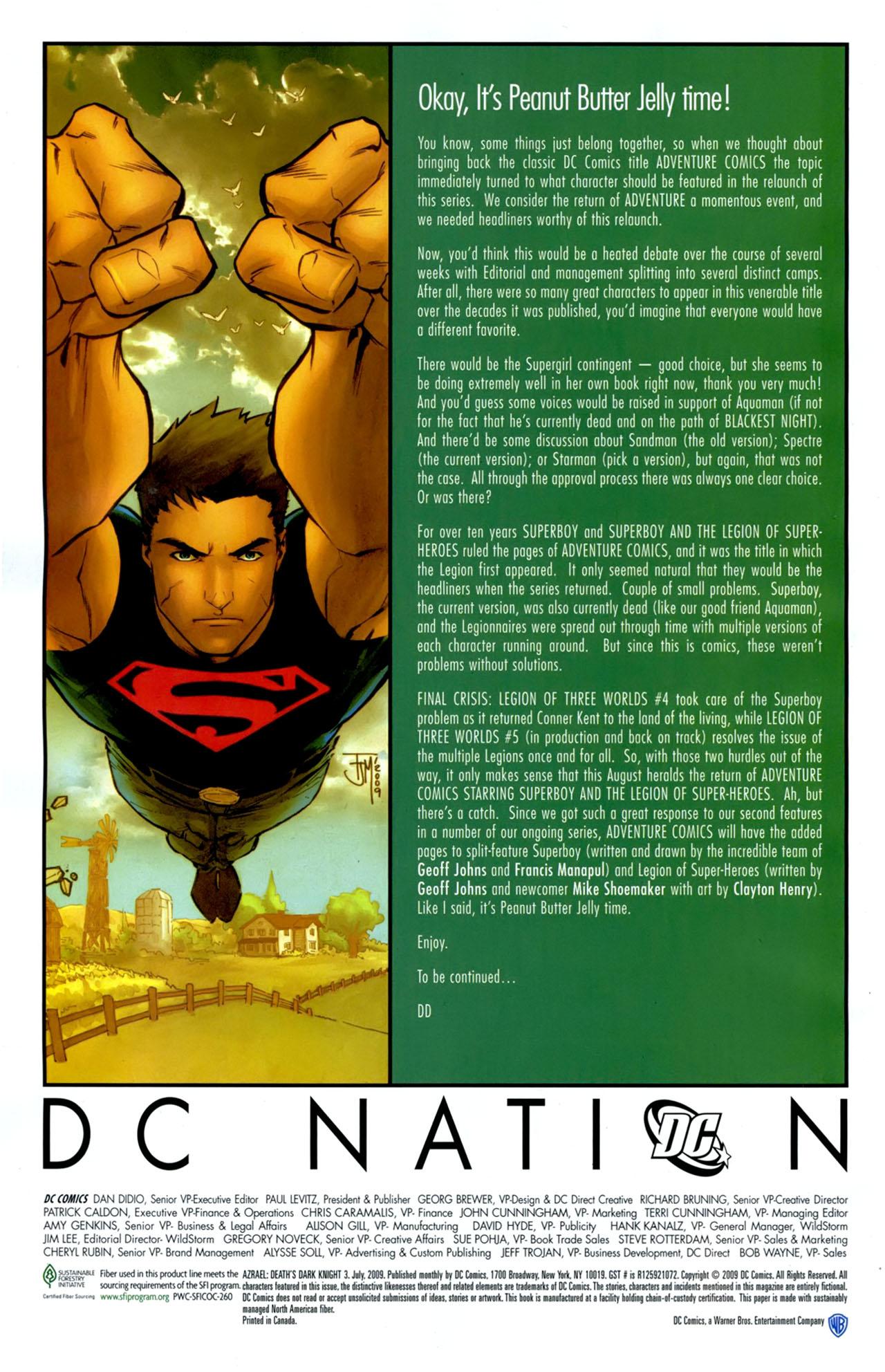 Read online Azrael: Death's Dark Knight comic -  Issue #3 - 31