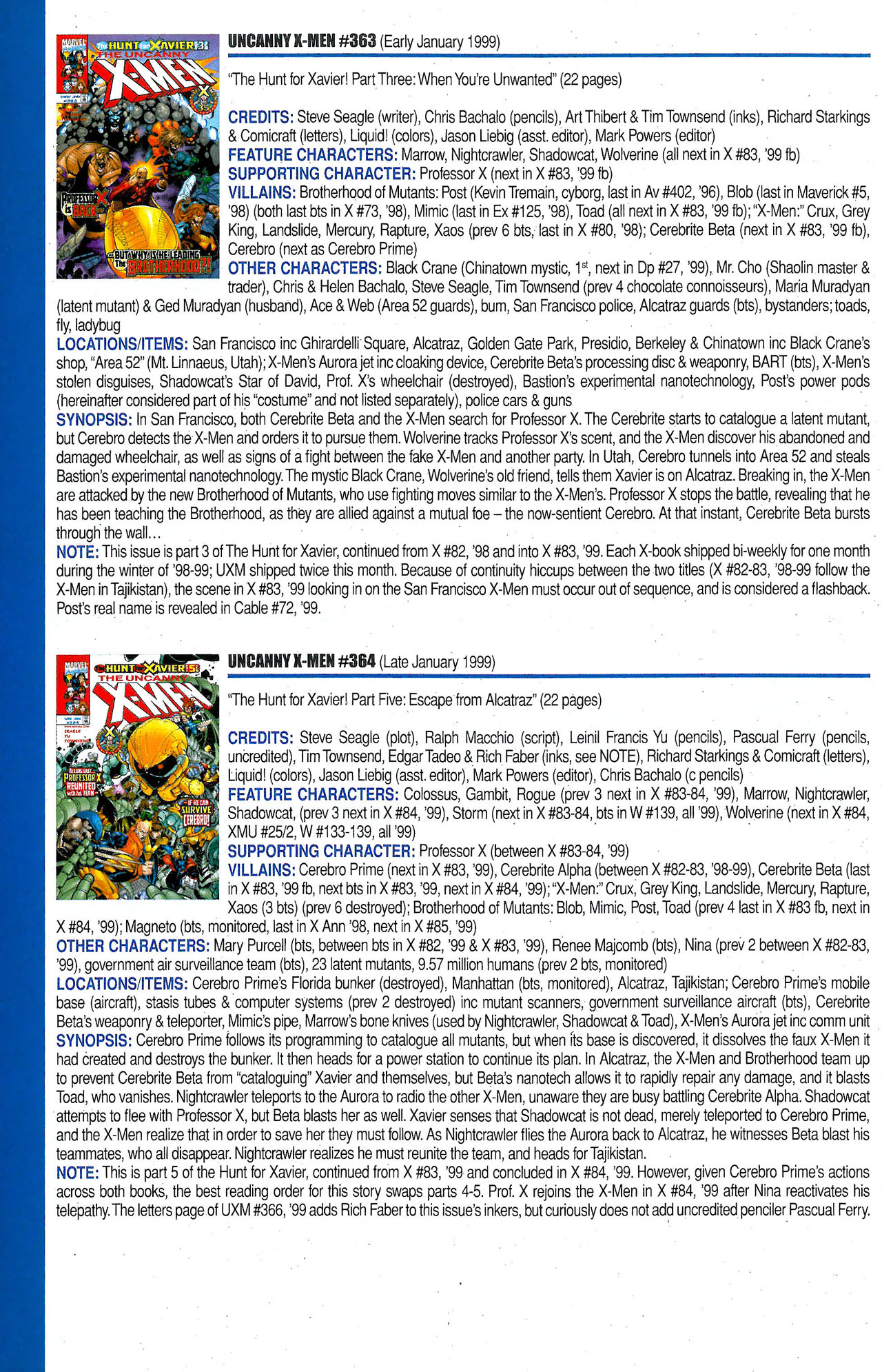 Read online Official Index to the Marvel Universe comic -  Issue #9 - 60