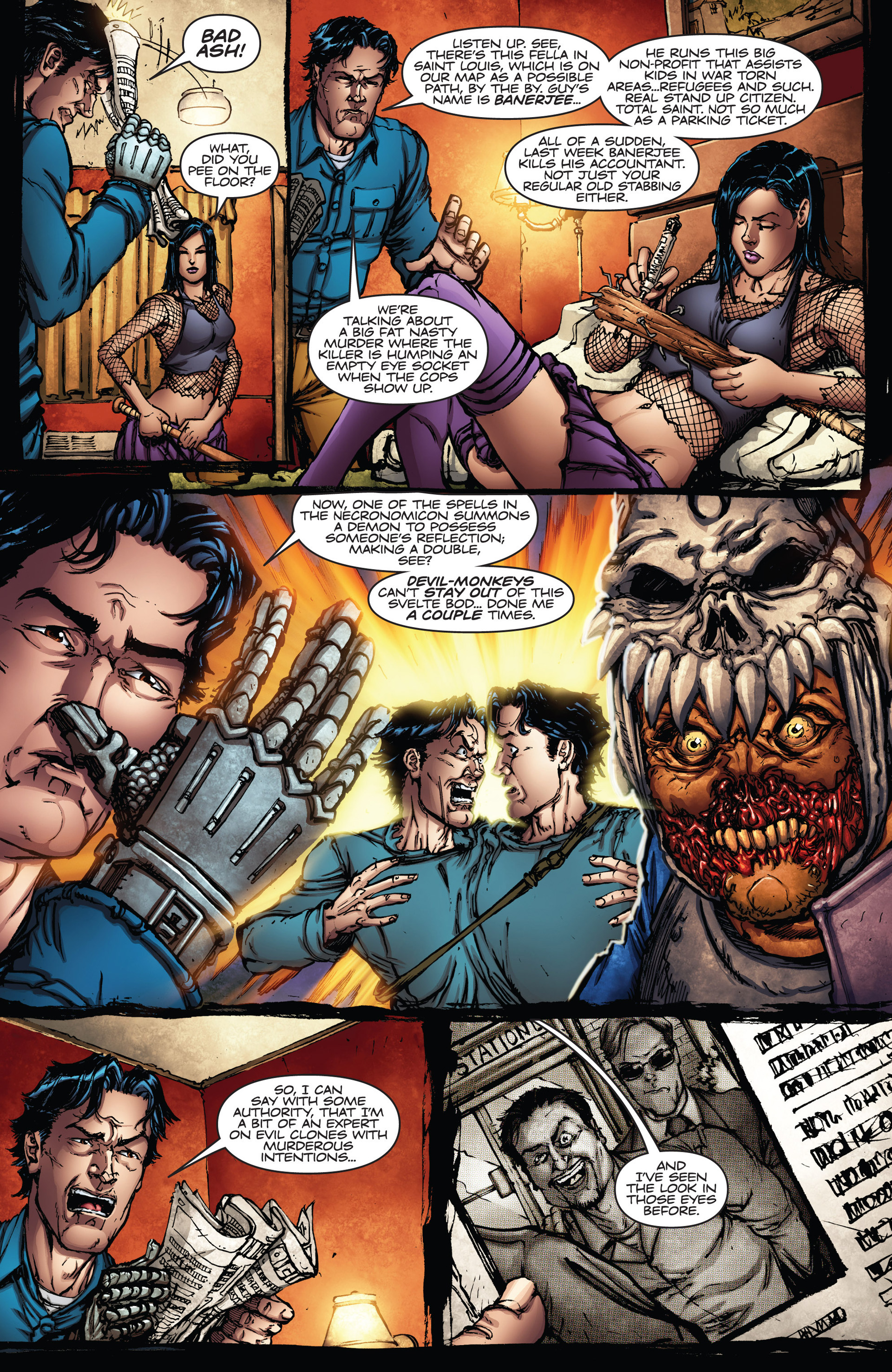 Read online Army of Darkness vs. Hack/Slash comic -  Issue #2 - 8