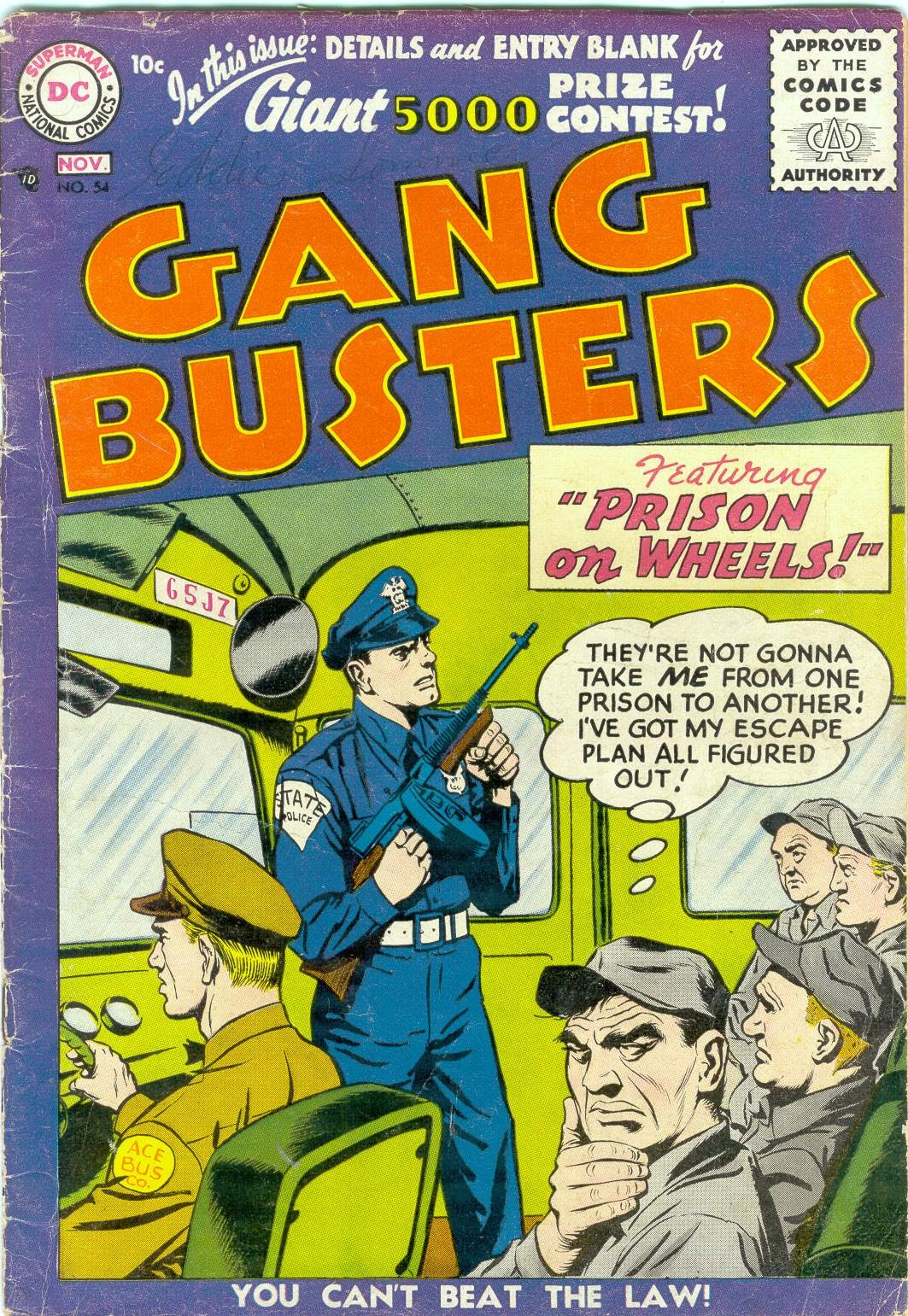 Gang Busters issue 54 - Page 1