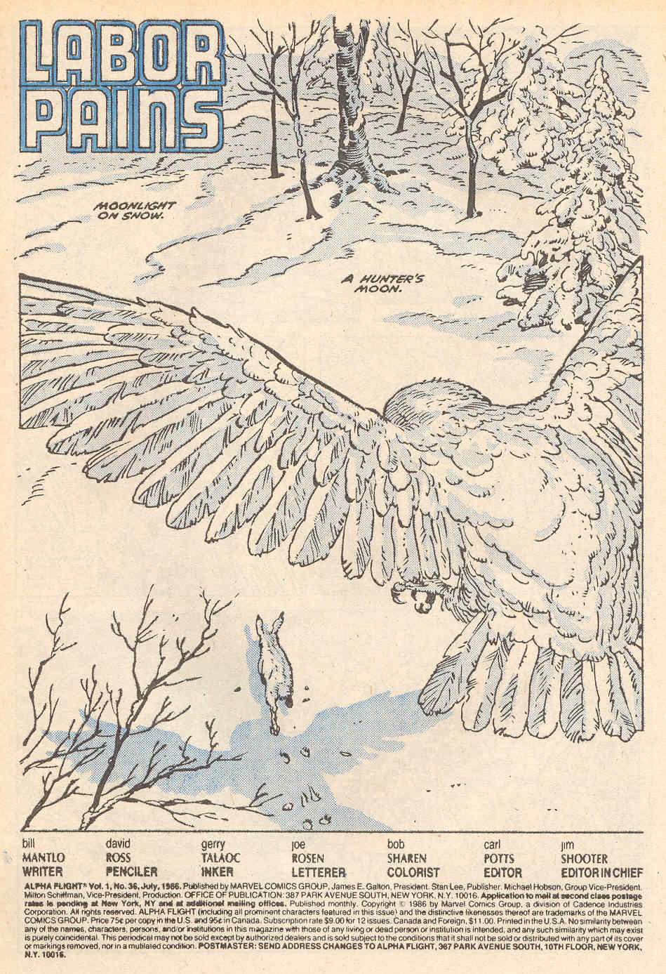 Read online Alpha Flight (1983) comic -  Issue #36 - 2