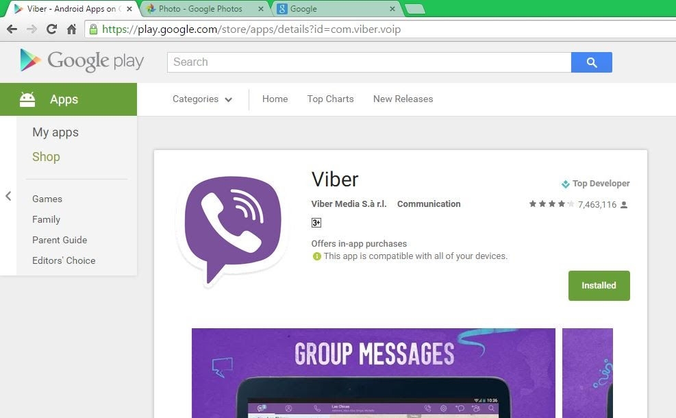 Viber Package Name