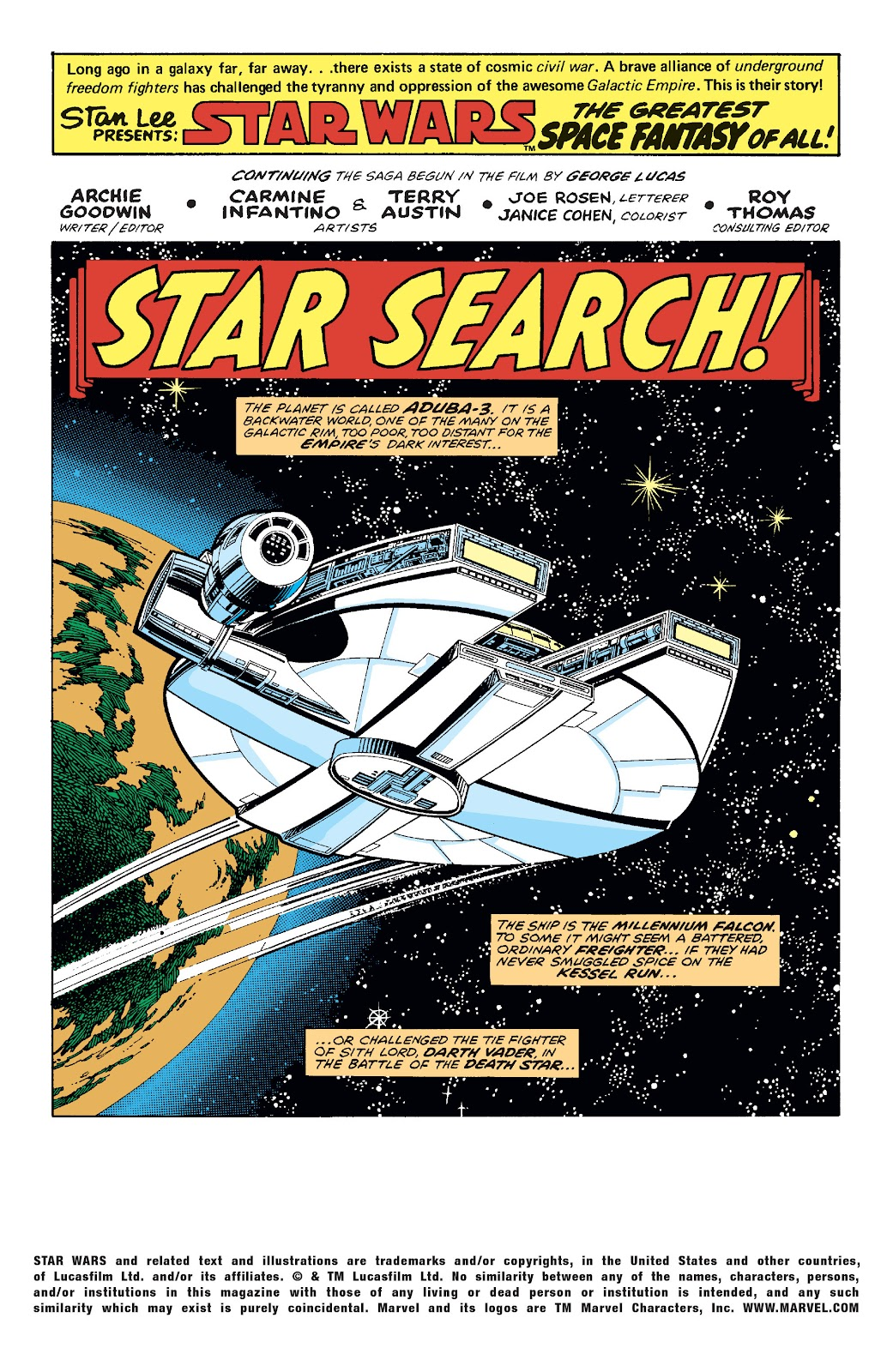 Read online Star Wars Legends: The Original Marvel Years - Epic Collection comic -  Issue # TPB 1 (Part 2) - 91