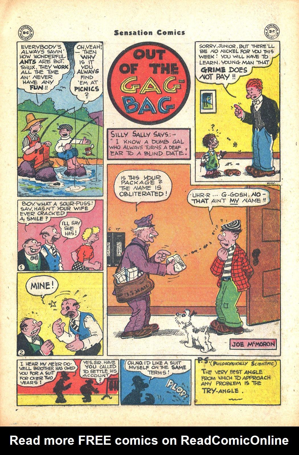 Read online Sensation (Mystery) Comics comic -  Issue #63 - 31