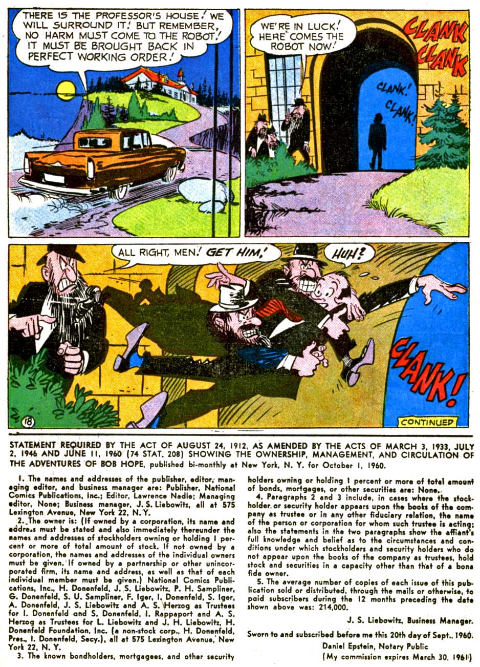 The Adventures of Bob Hope issue 68 - Page 22