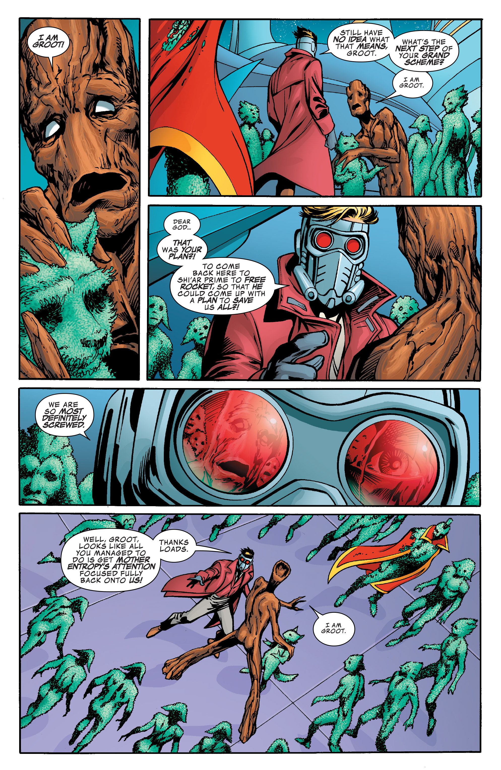 Read online Guardians of the Galaxy: Mother Entropy comic -  Issue #5 - 6
