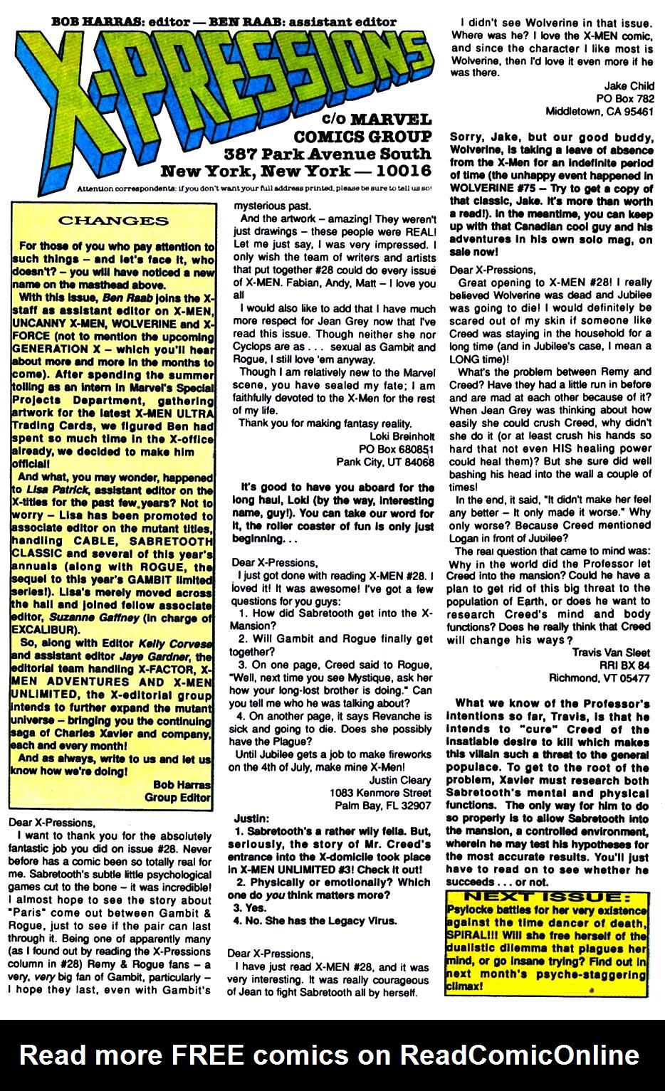 X-Men (1991) 31 Page 23