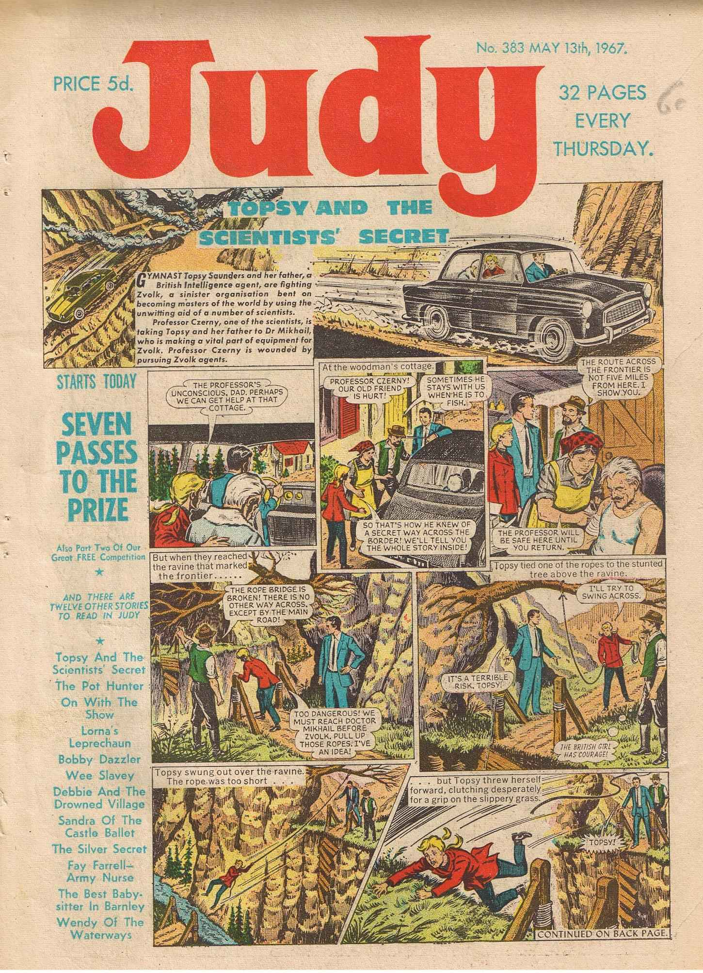 Read online Judy comic -  Issue #383 - 1