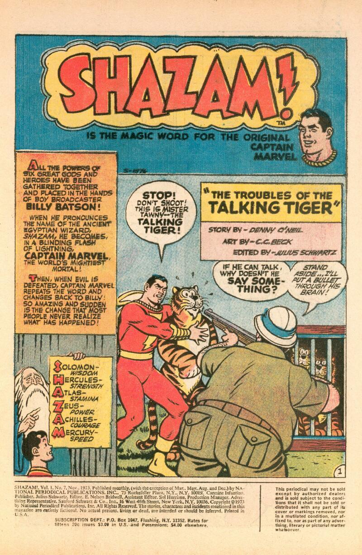 Read online Shazam! (1973) comic -  Issue #7 - 2