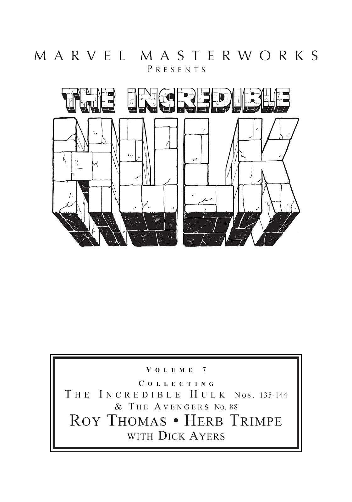 Read online Marvel Masterworks: The Incredible Hulk comic -  Issue # TPB 7 (Part 1) - 2