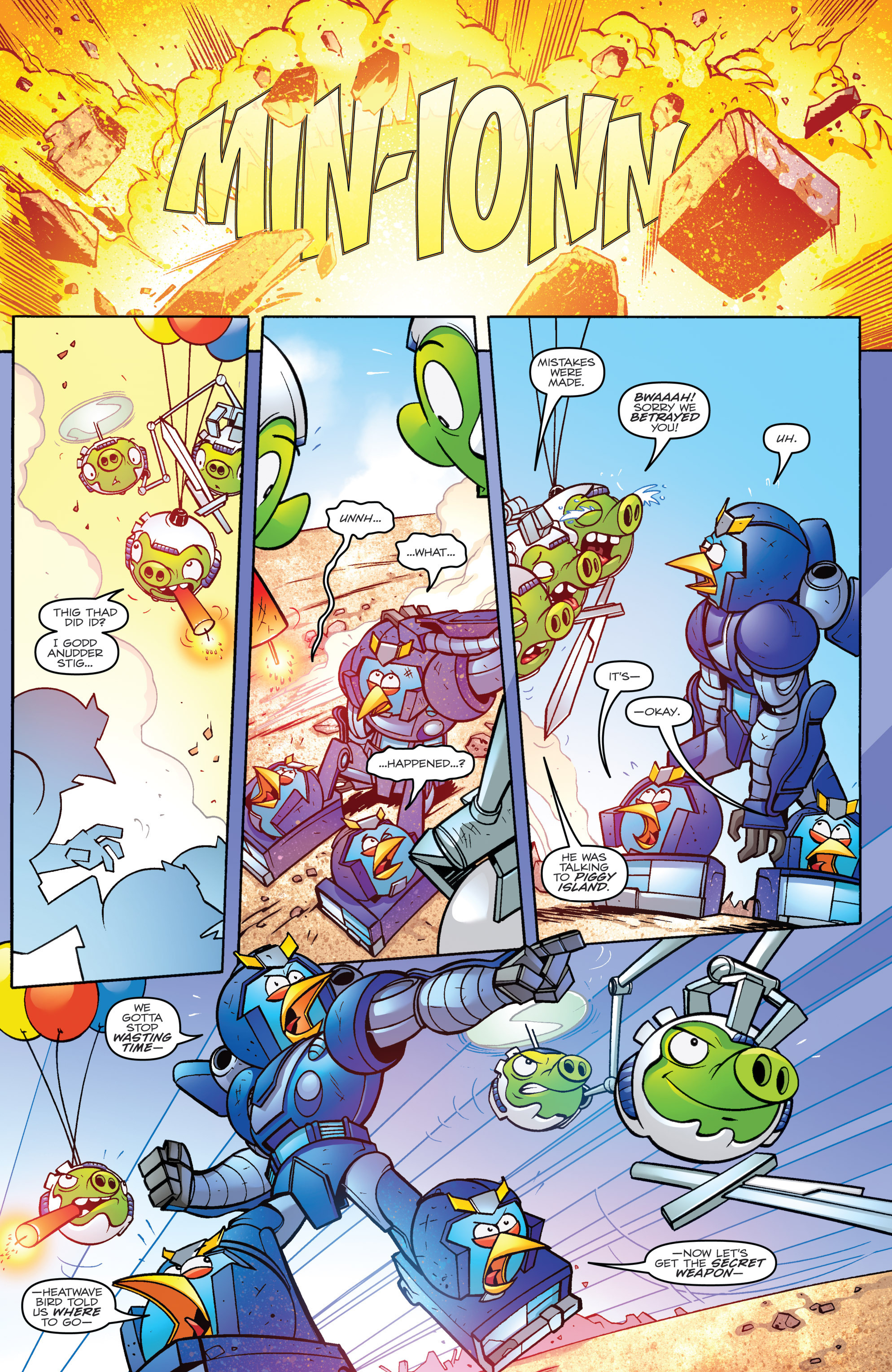 Read online Angry Birds Transformers comic -  Issue #4 - 12