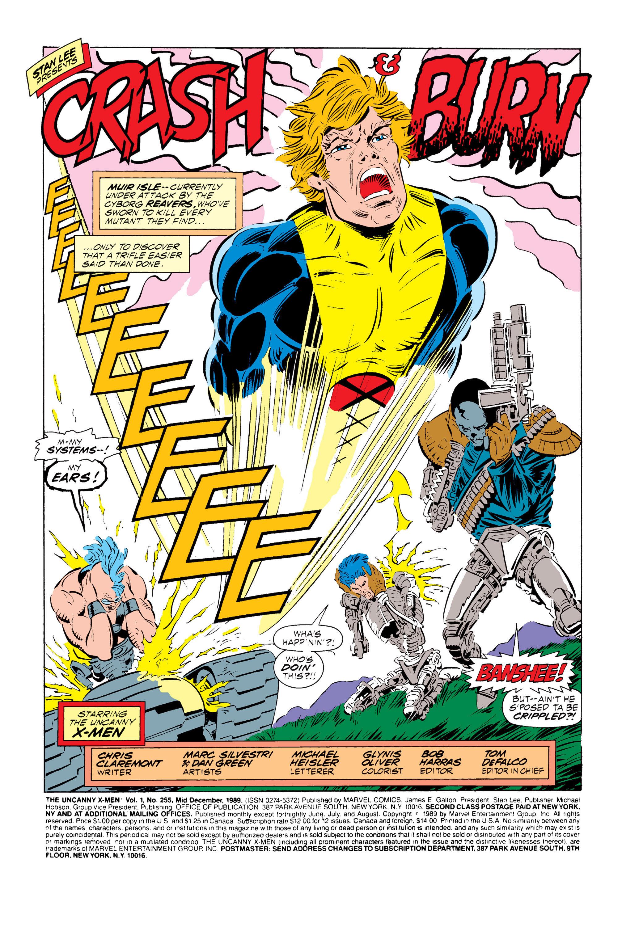 Read online Uncanny X-Men (1963) comic -  Issue #255 - 2