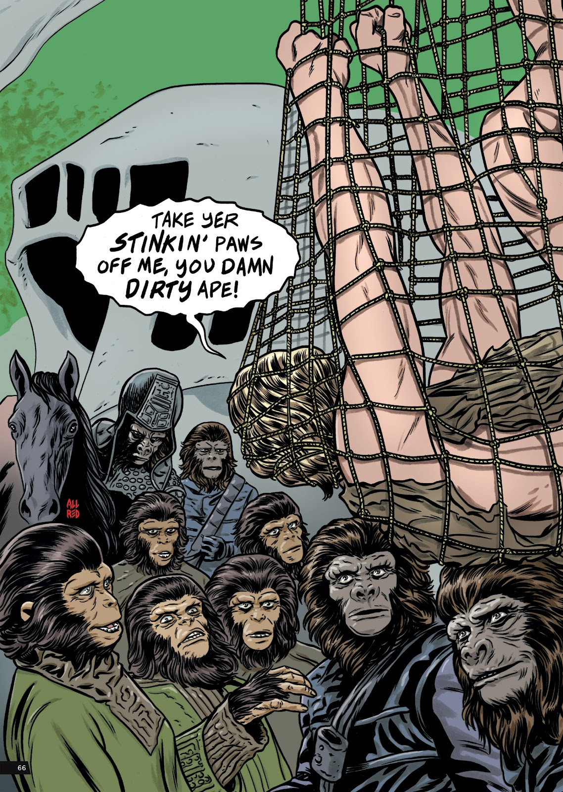 Read online Planet of the Apes Artist Tribute comic -  Issue # TPB - 66
