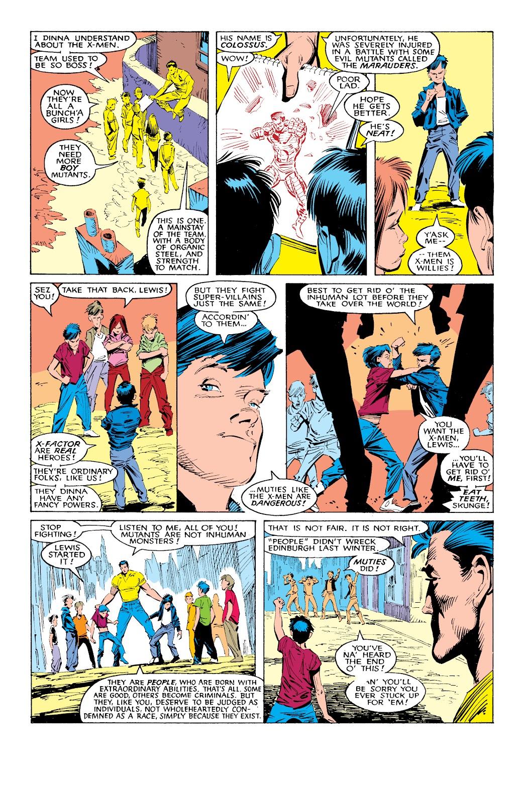 Read online X-Men Milestones: Fall of the Mutants comic -  Issue # TPB (Part 1) - 7